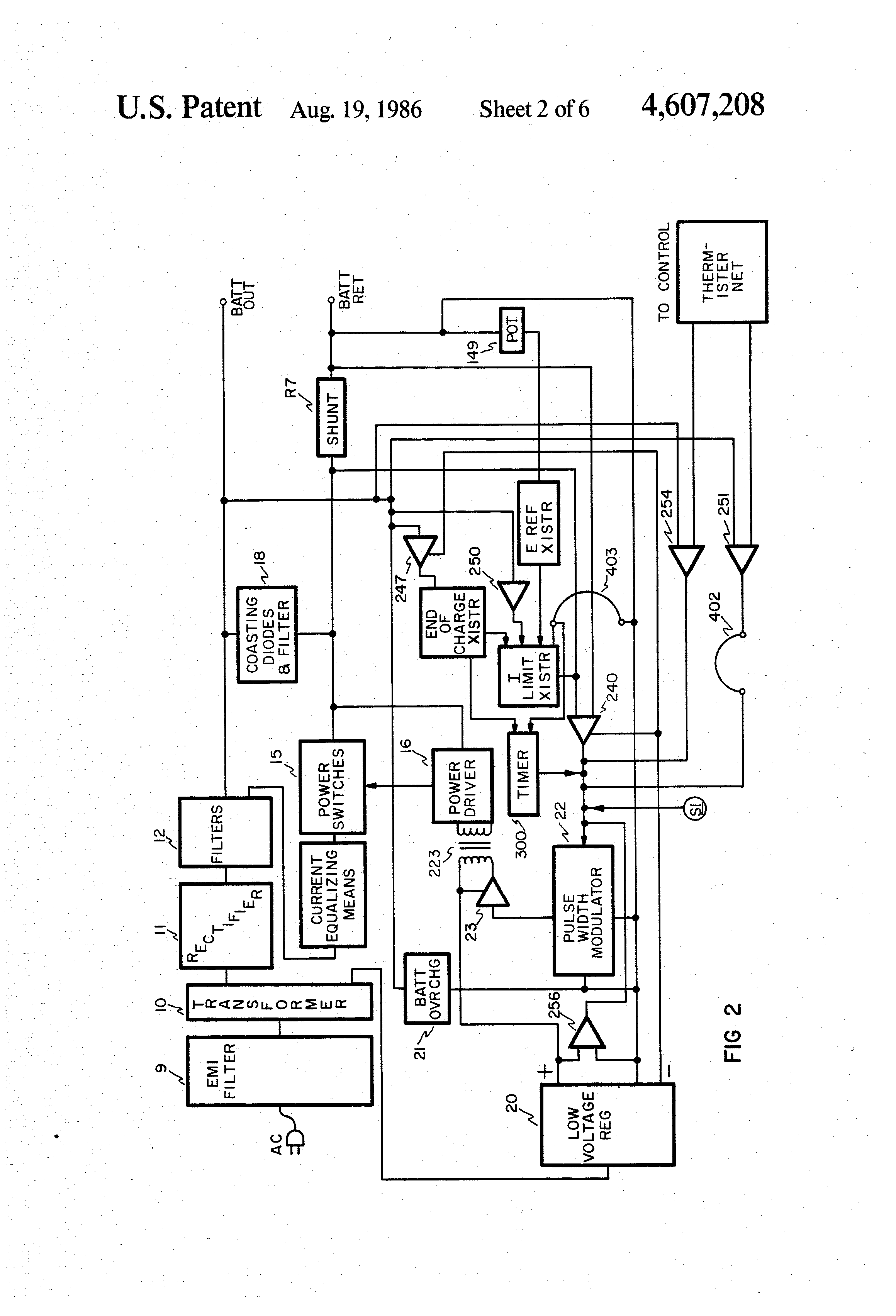 US4607208 2 wiring diagram for schumacher battery charger circuit and dayton 12v battery charger wiring diagram at gsmportal.co