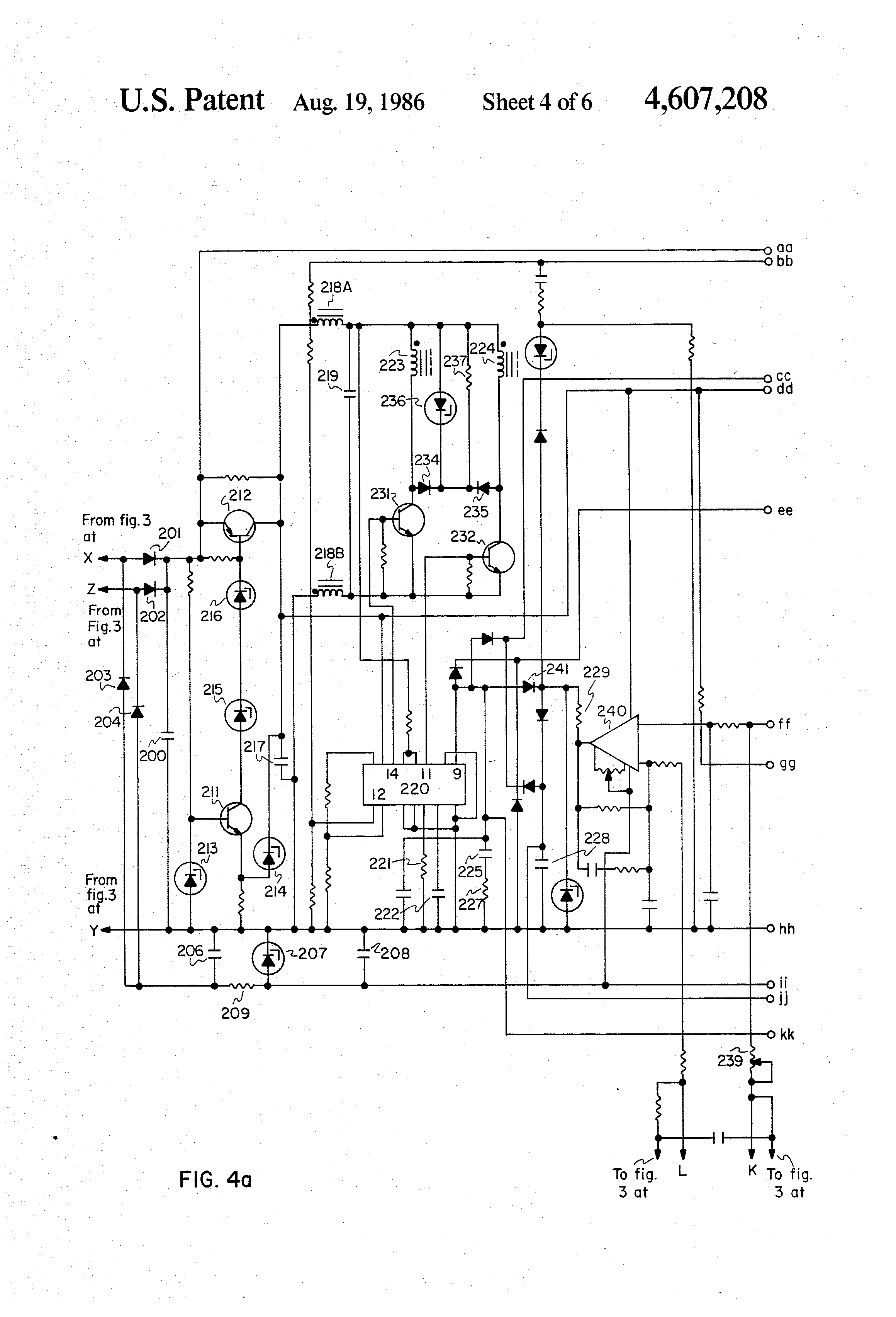 US4607208 4 wiring diagram for schumacher battery charger circuit and dayton 12v battery charger wiring diagram at gsmx.co