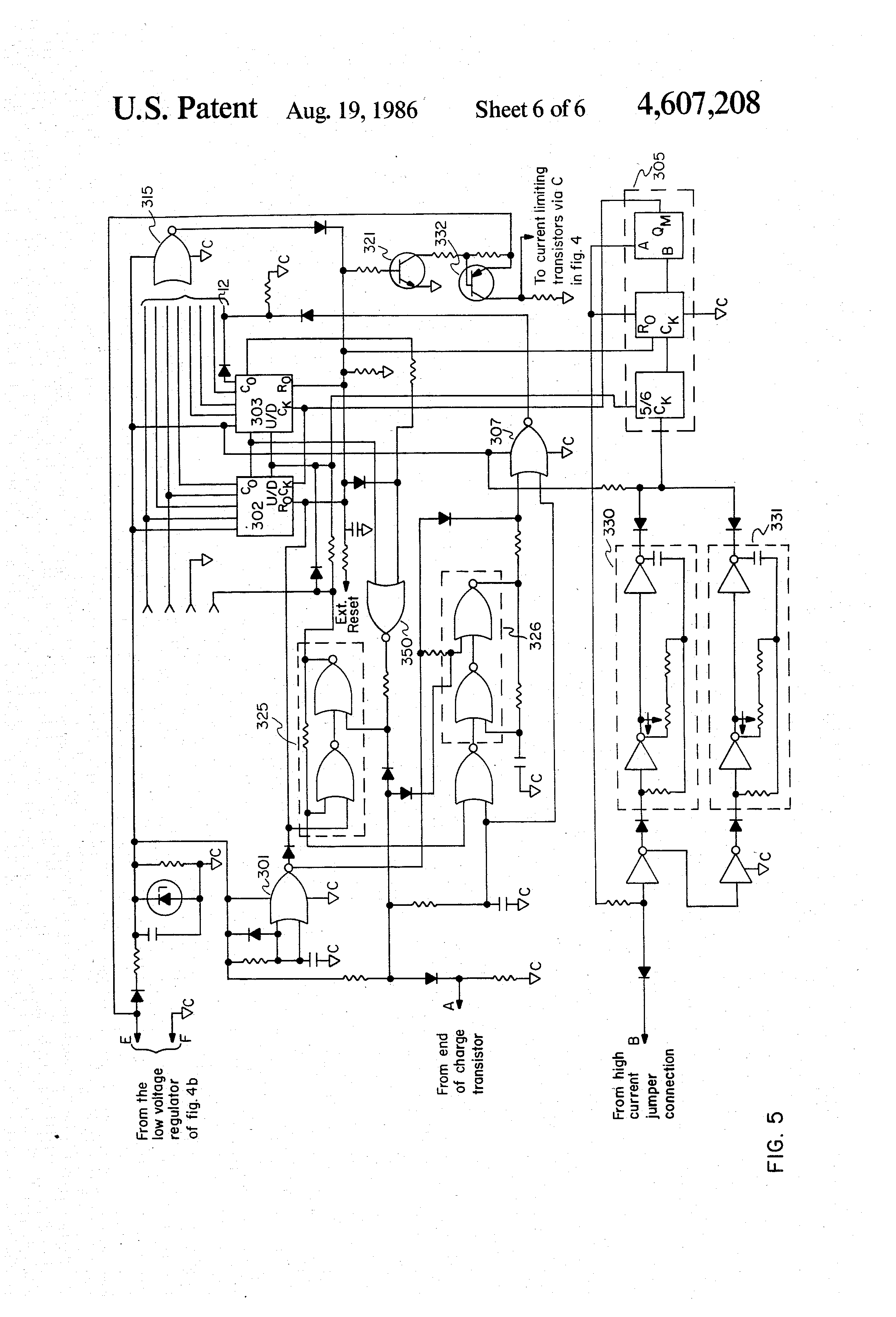 US4607208 6 wiring diagram for schumacher battery charger circuit and dayton 12v battery charger wiring diagram at bakdesigns.co