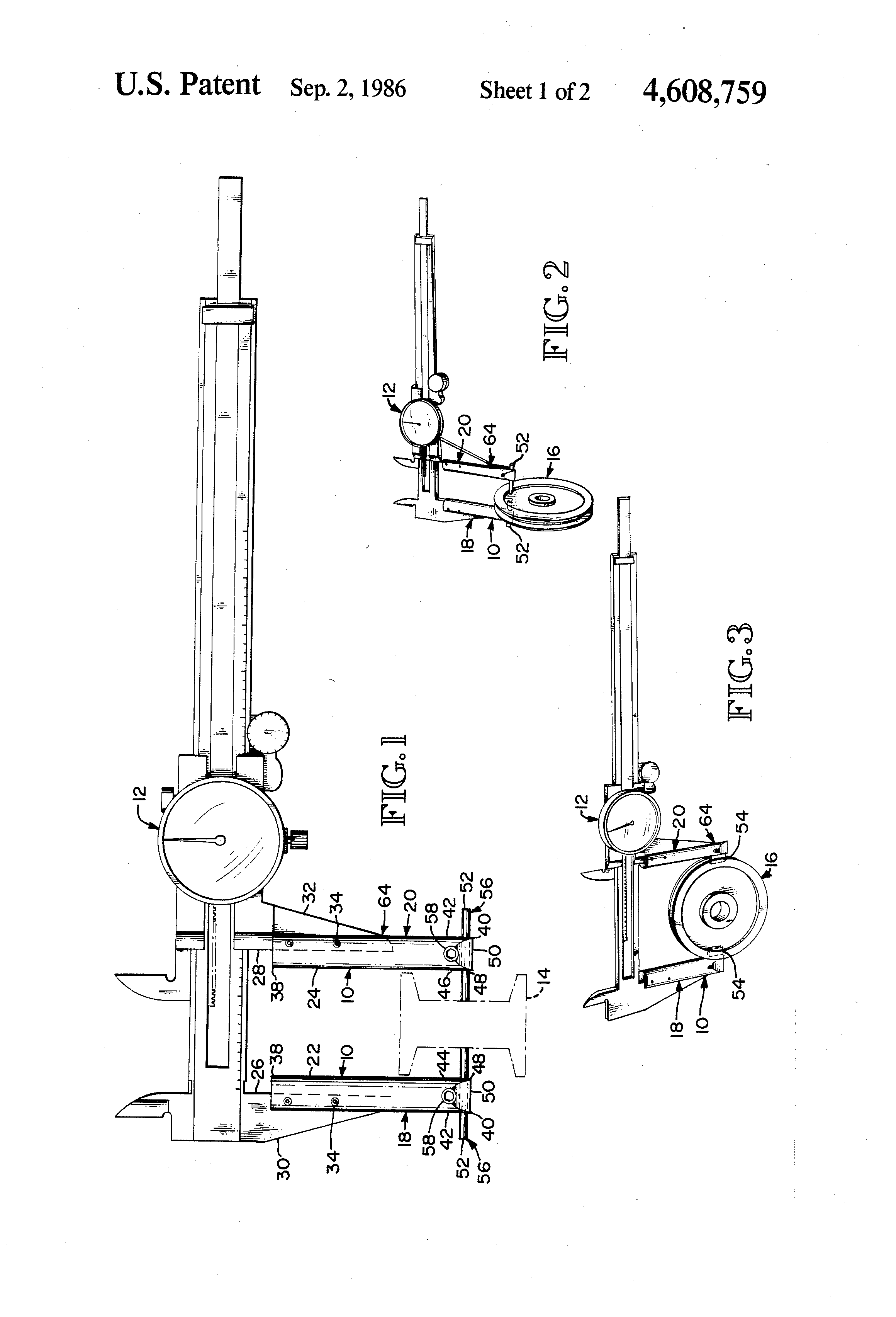 patent us4608759  or dial caliper comparative