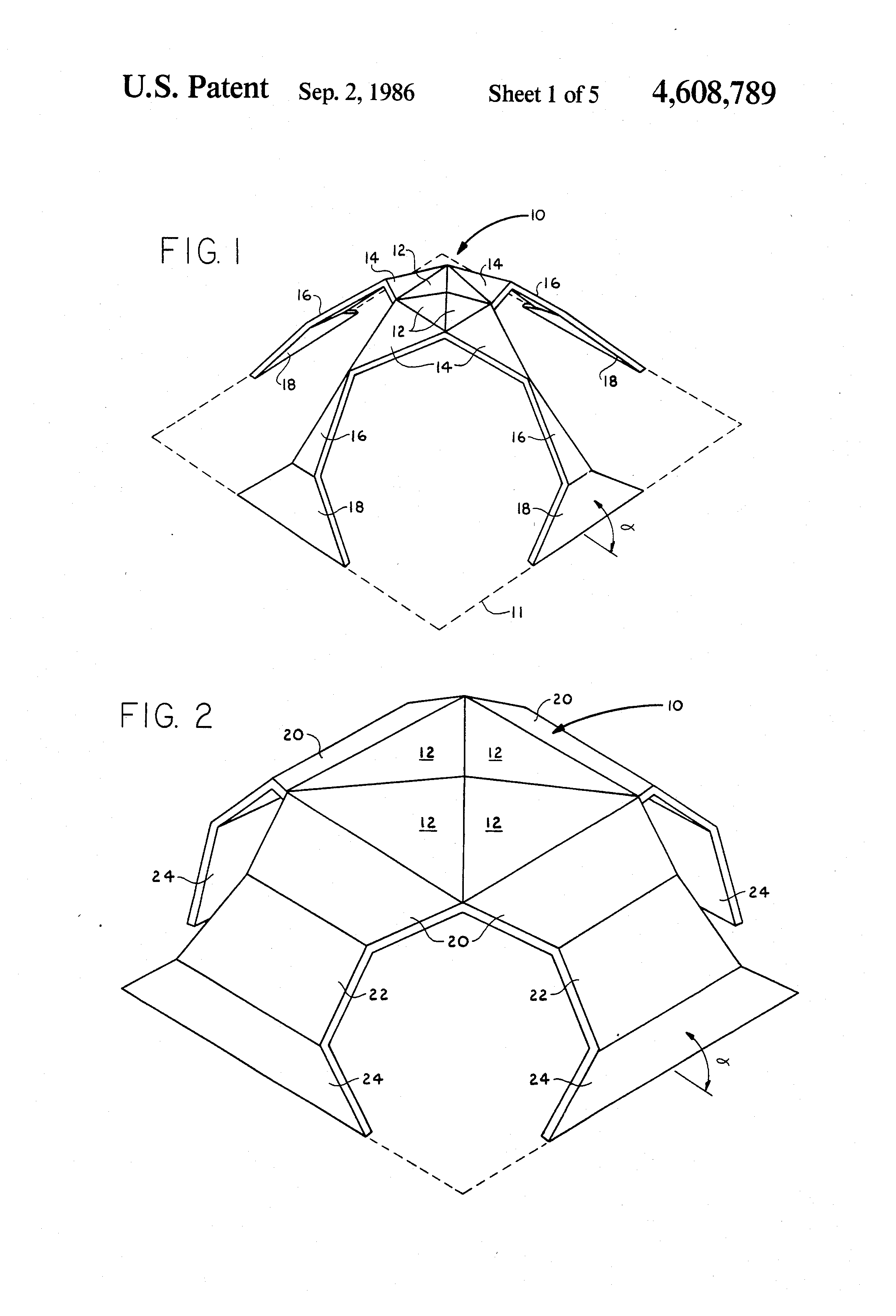 patent us4608789 - star dome structure