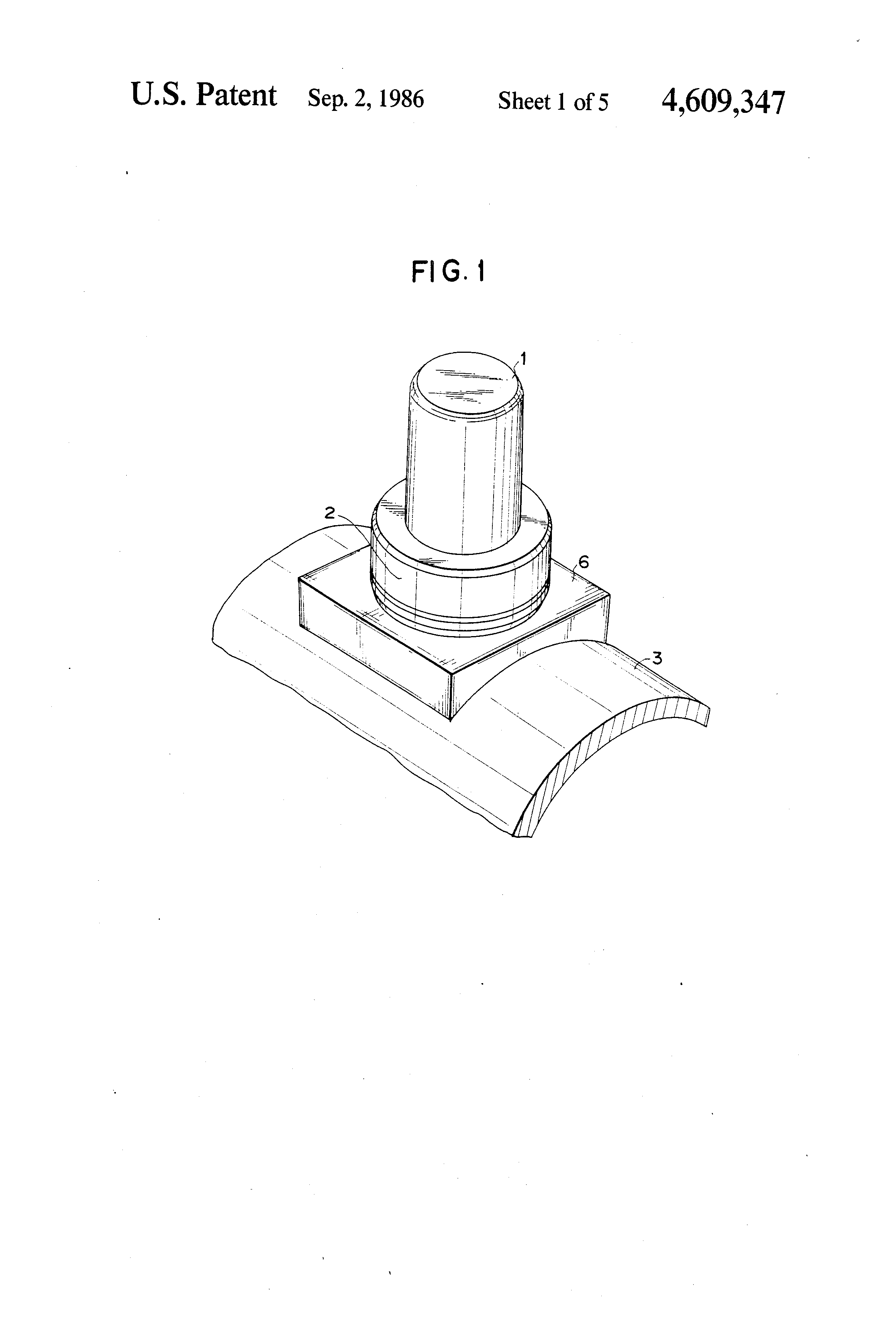 Patent US4609347 - Skid button structure - Google Patents