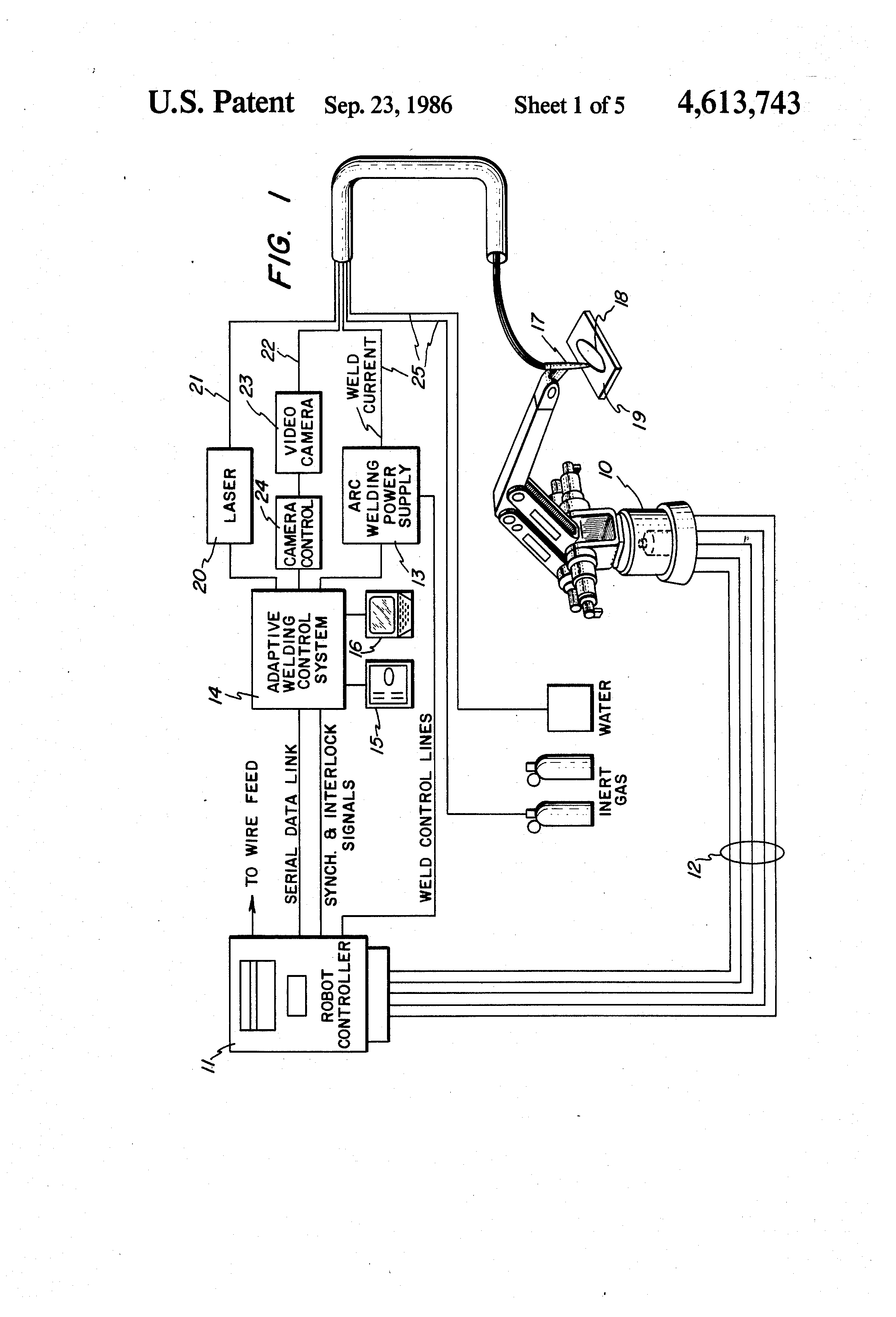 Diagram Of Welding Process Us4613743 Arc Adaptive Control Patent Drawing