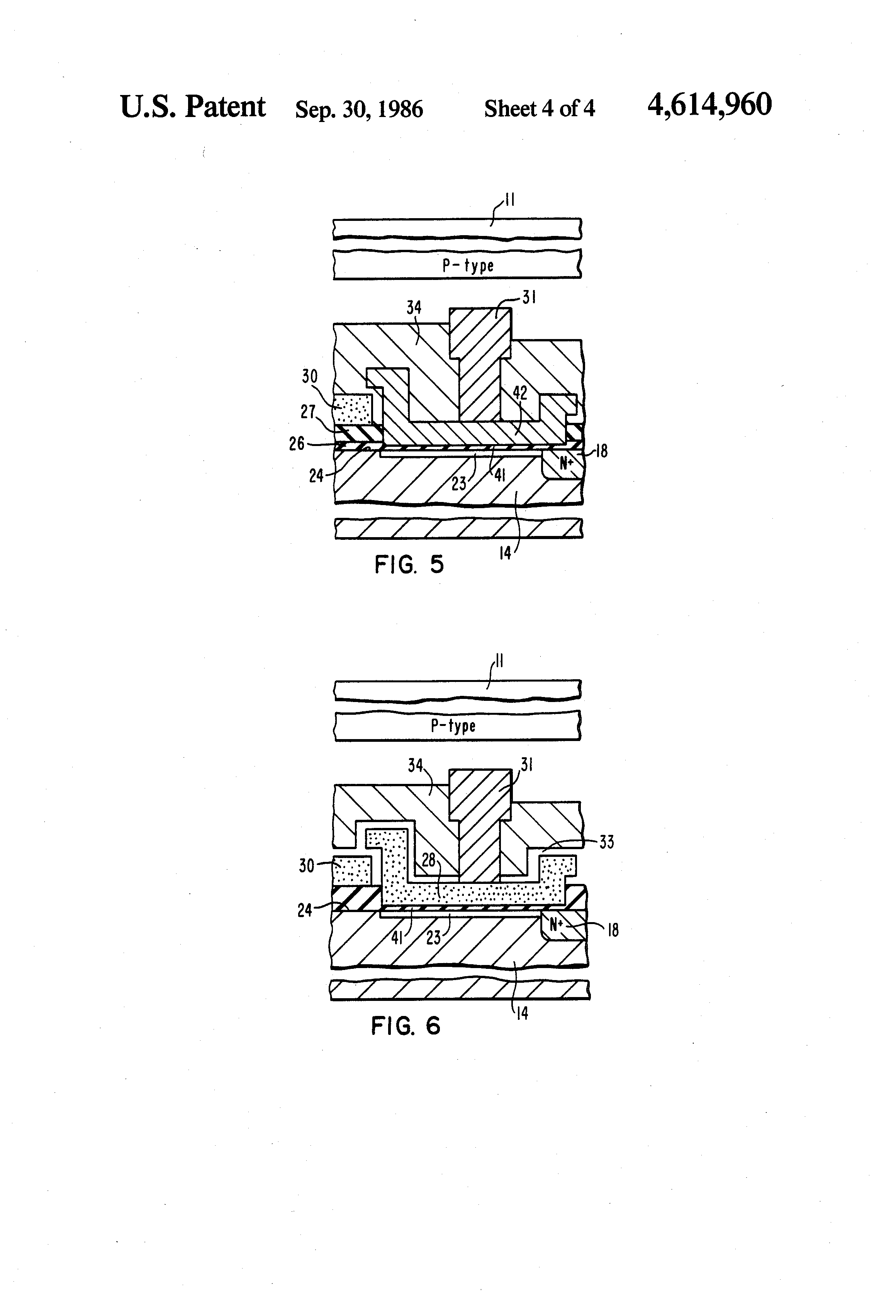 patent us4614960 - focal plane array