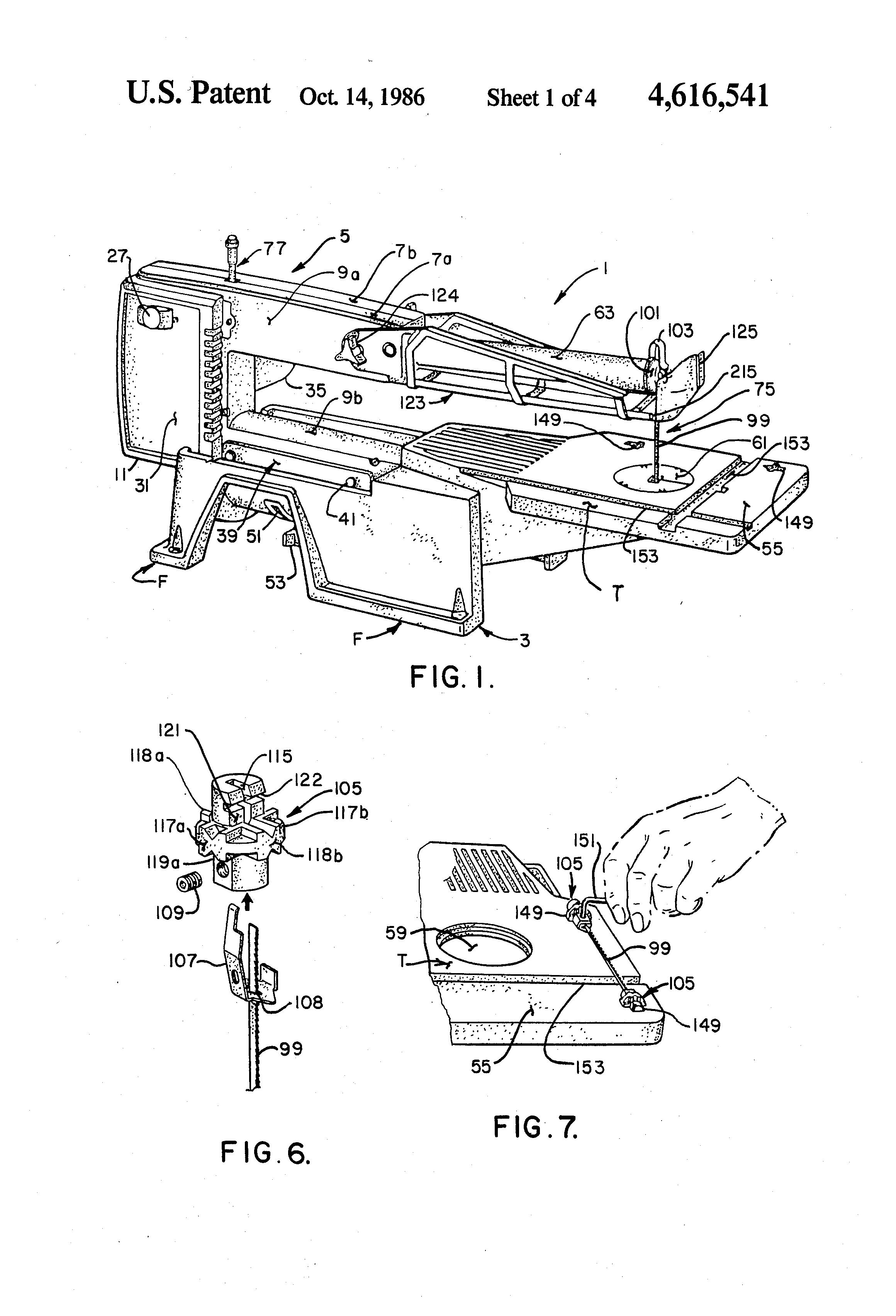 Patent Us4616541 Walking Beam Scroll Saw Google Patents