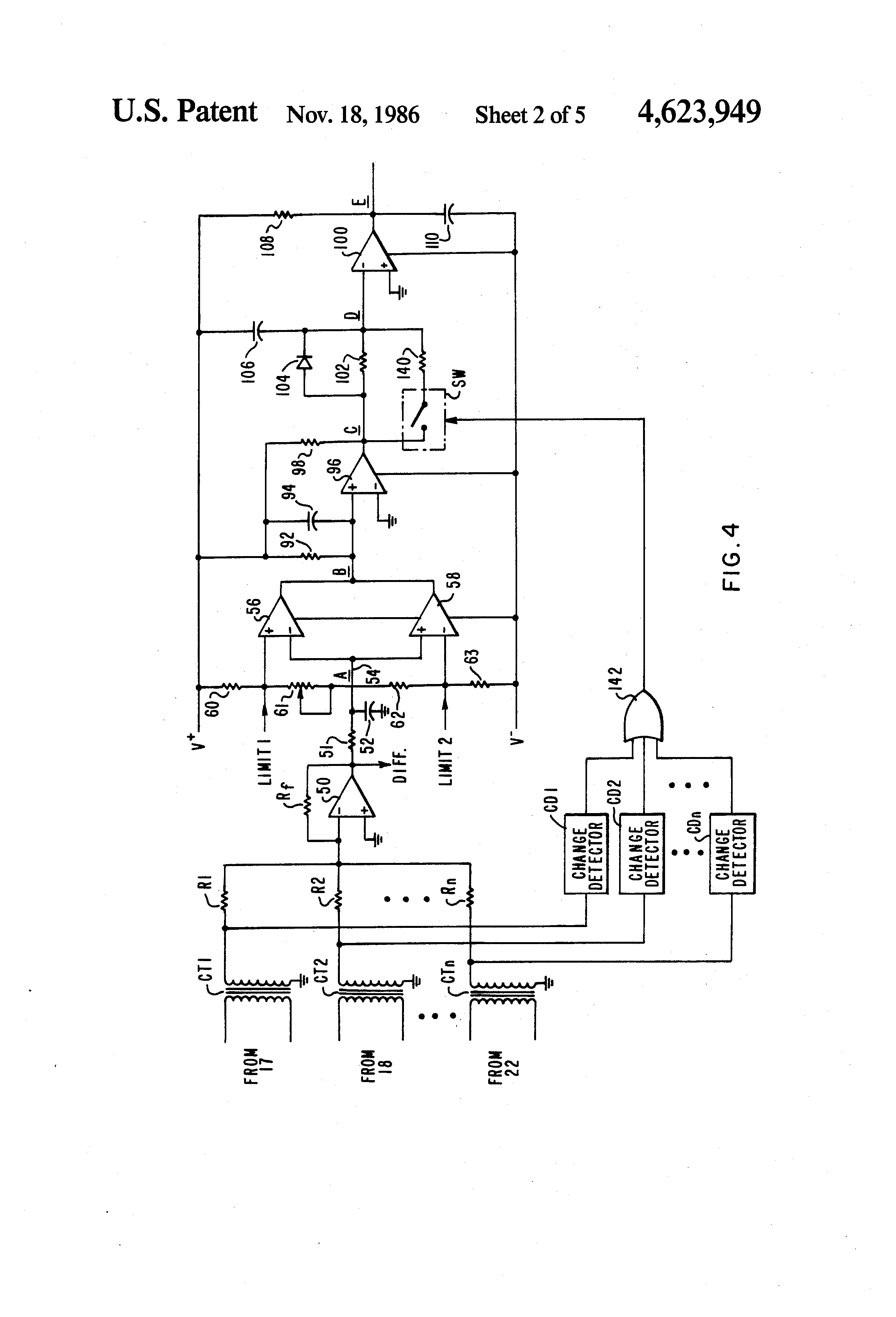 patent us4623949 - bus differential relay