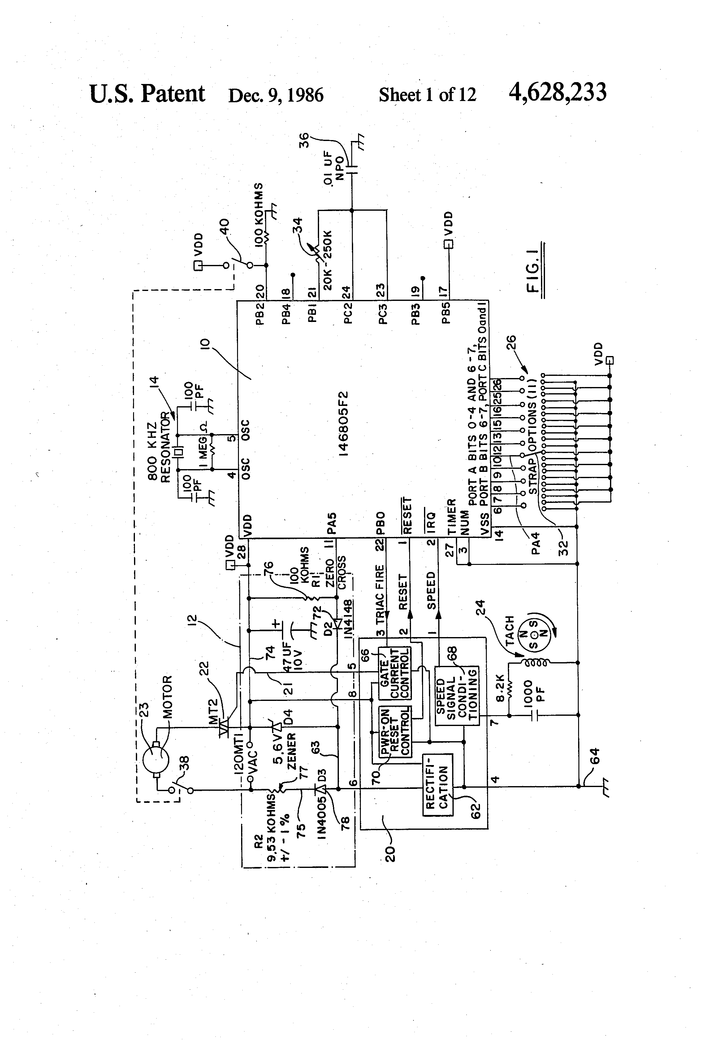 US4628233 1 liebert crac unit wiring diagrams liebert wiring diagrams collection liebert dry cooler wiring diagram at virtualis.co