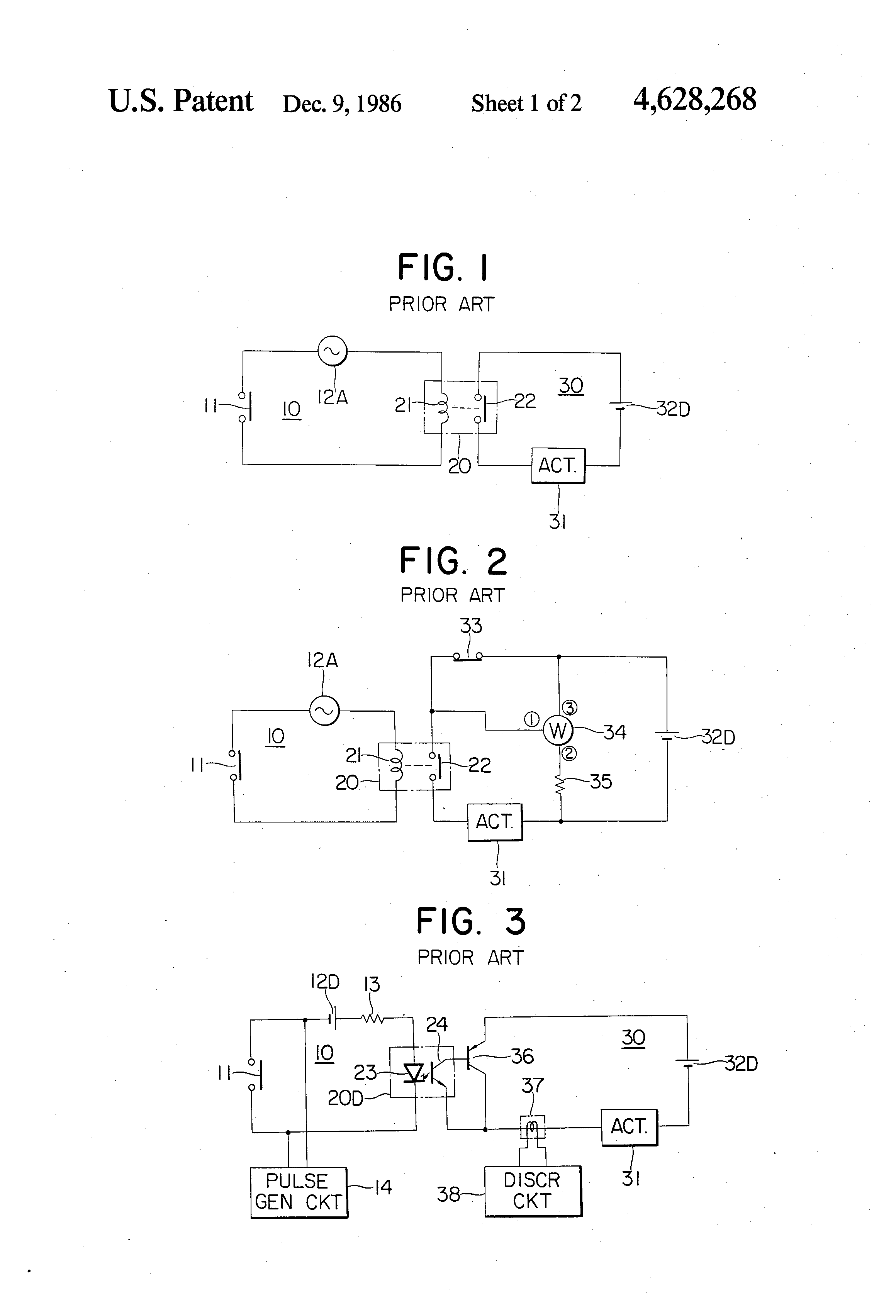 Patent Us4628268 Test Device For Testing An Actuator Circuit Thyristor Tester Drawing