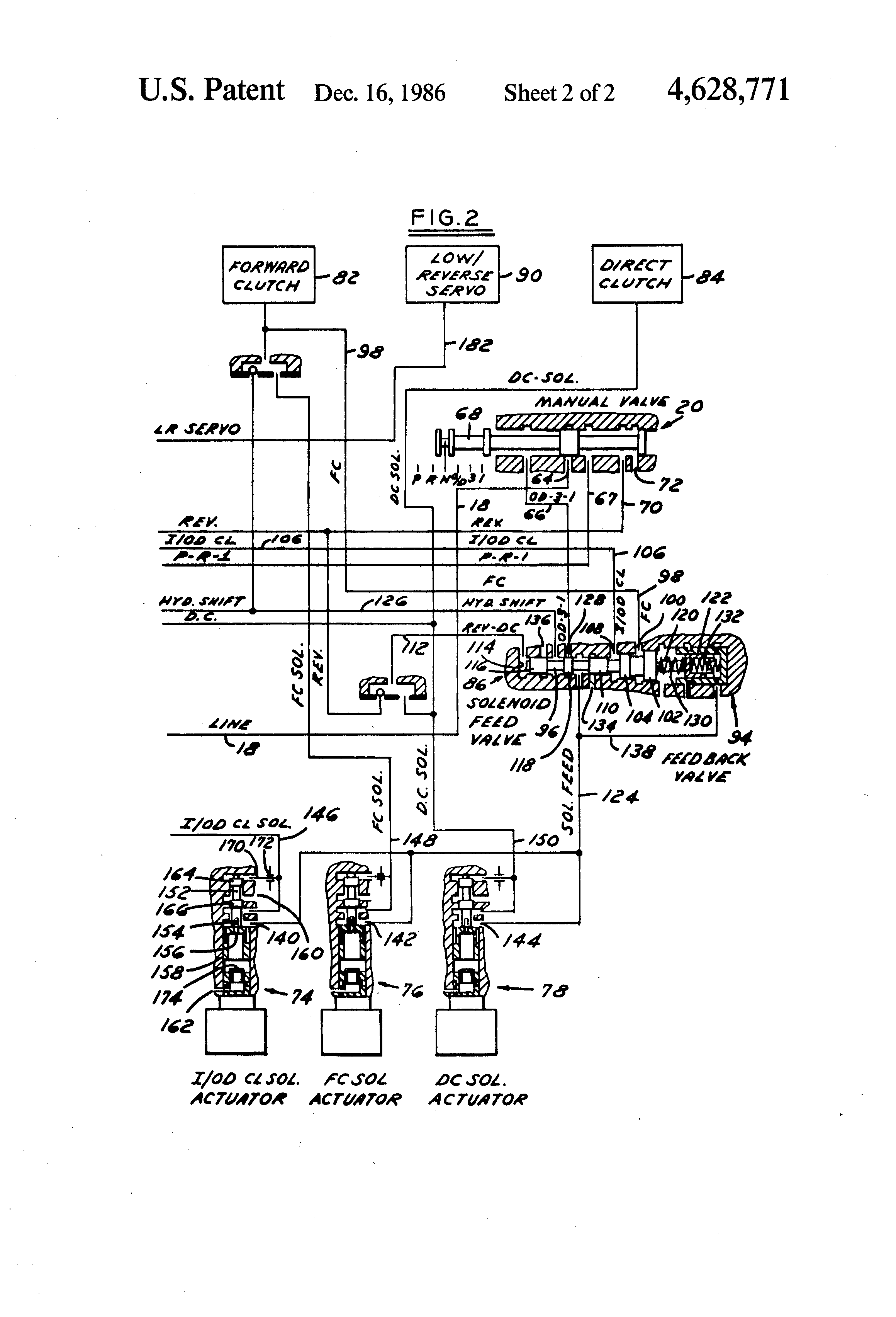 Patent US4628771 - Hydraulic clutch pressure control for an ...