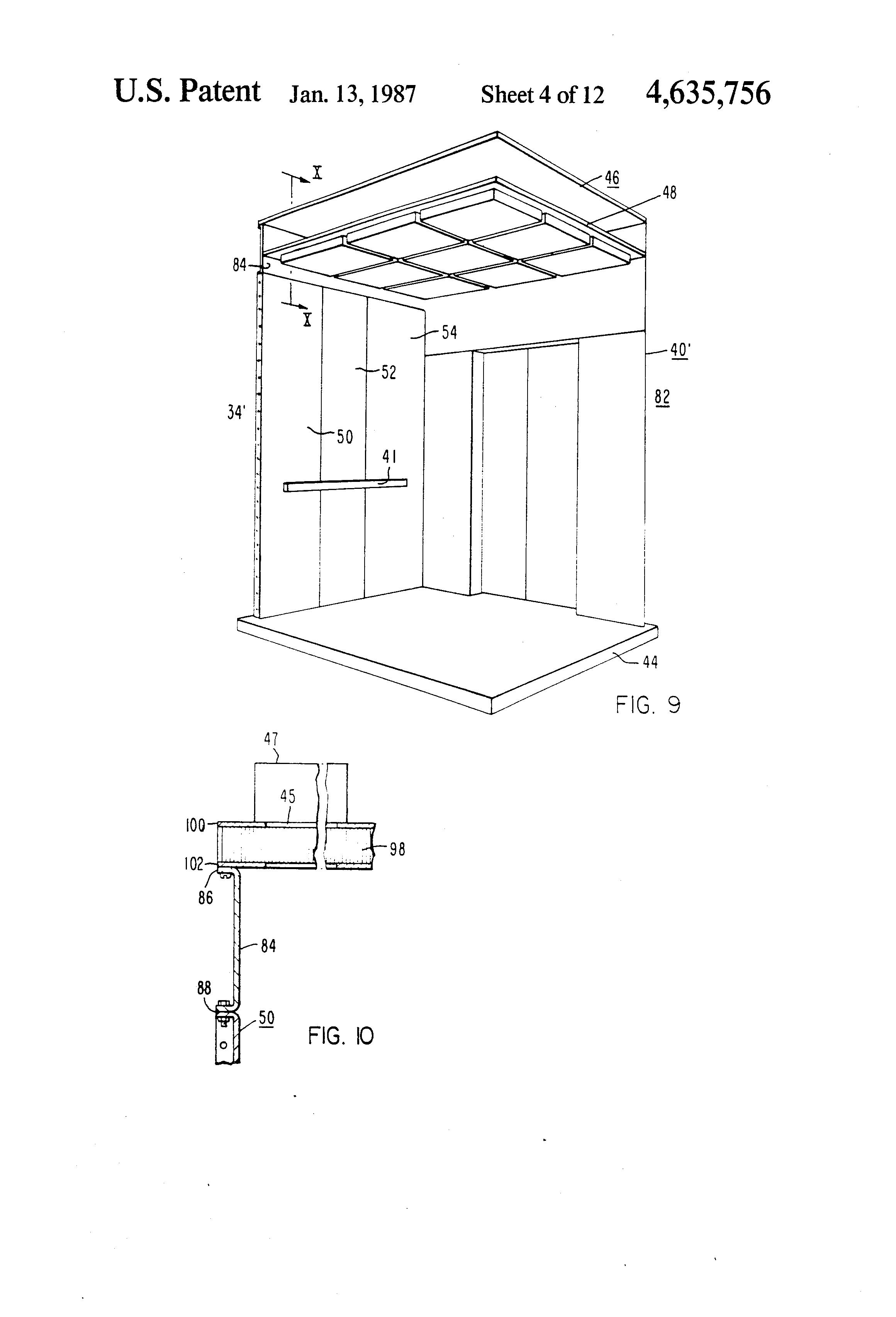 Patent US4635756 - Elevator cab - Google Patents
