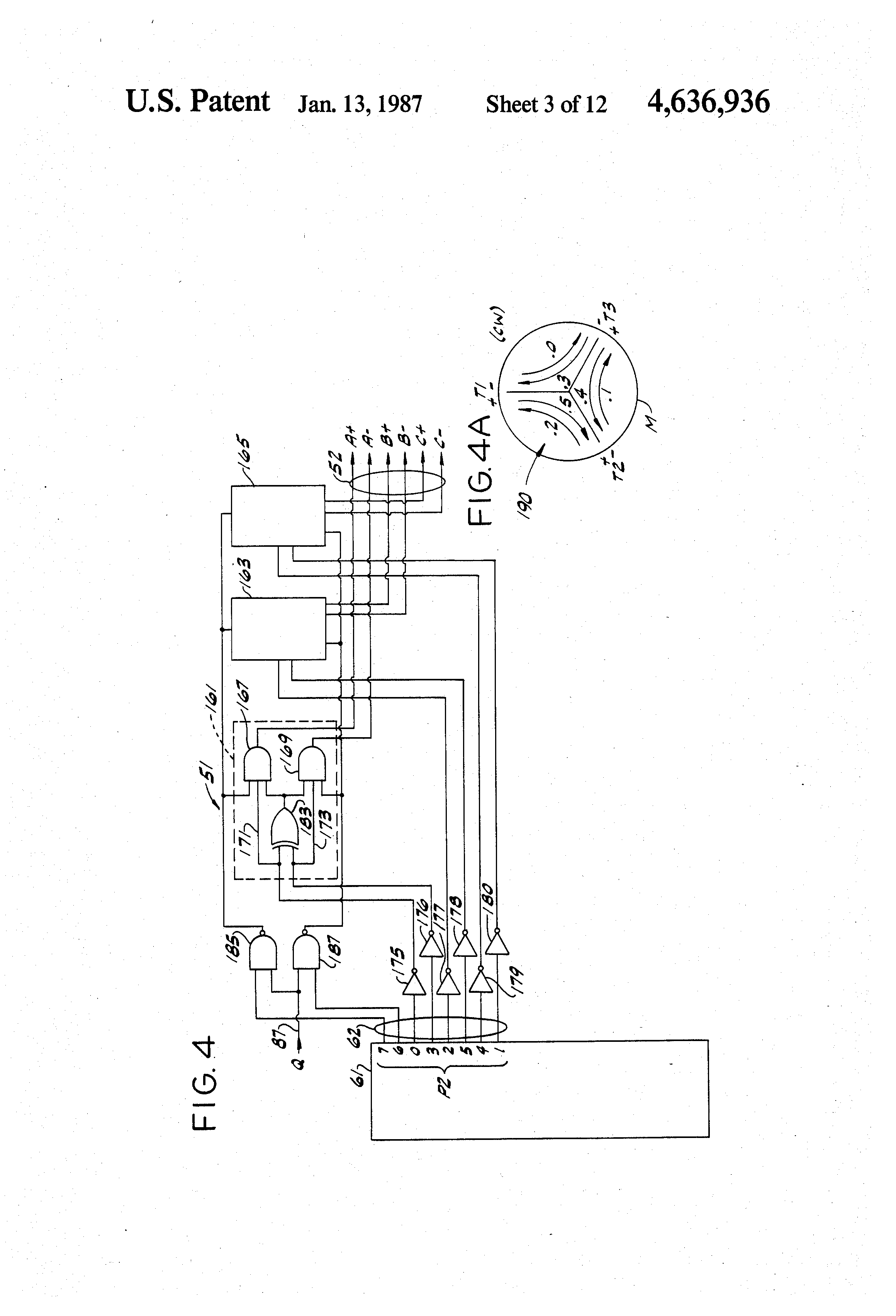 Patent us4636936 control system for an electronically for Electronically commutated motor ecm