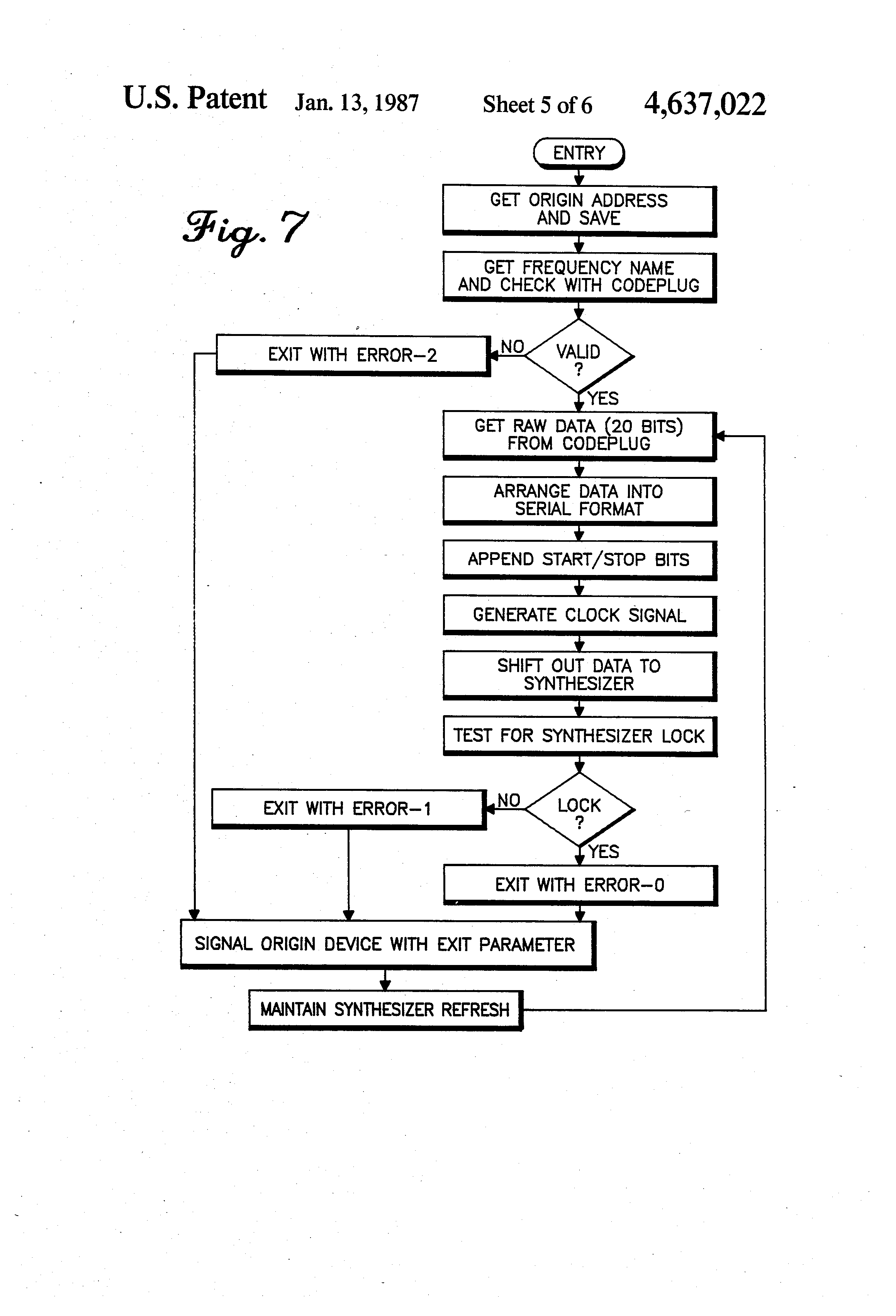 Patent US4637022 - Internally register-modelled, serially