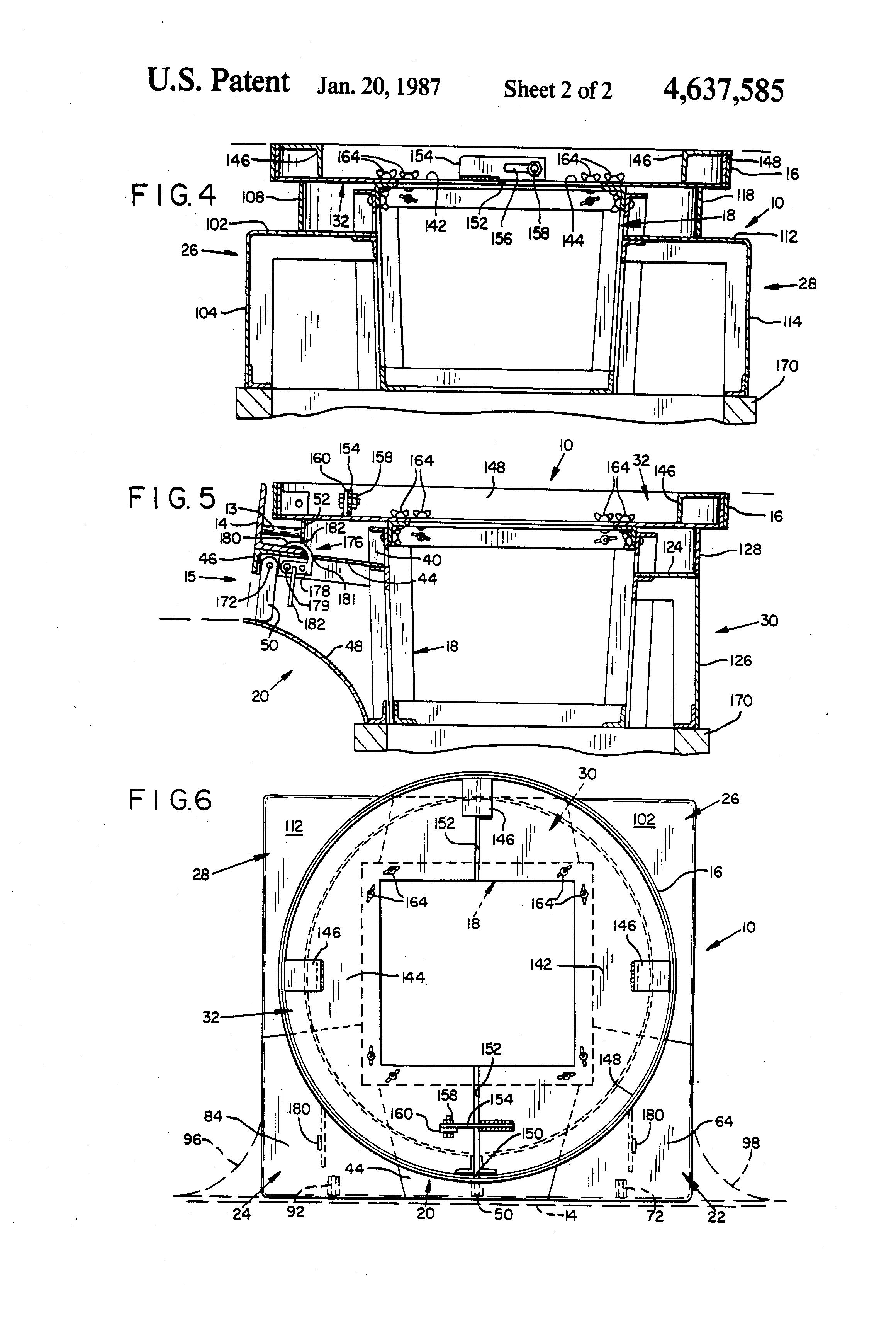 Patent Us4637585 Reusable Concrete Curb Inlet Form