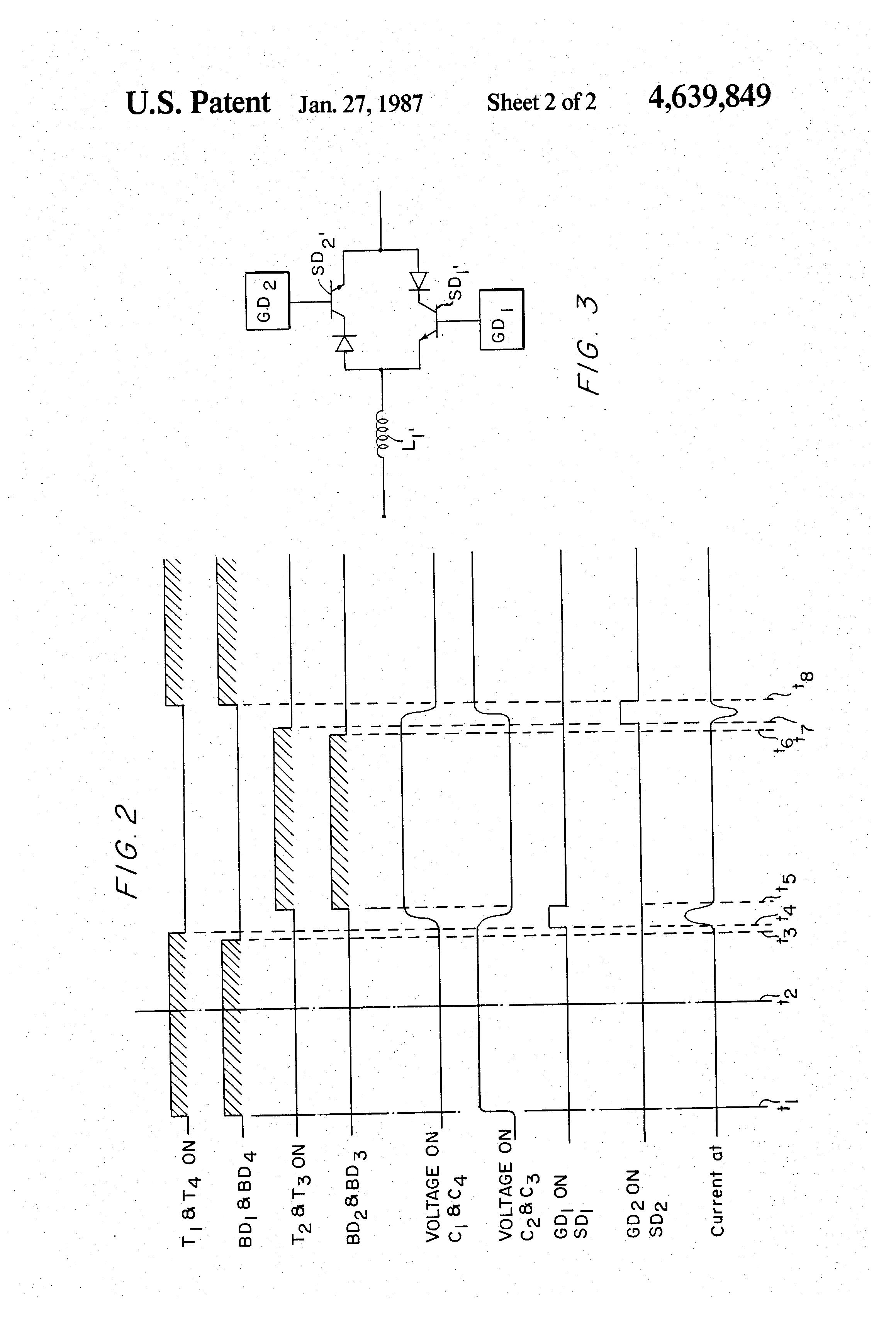 patent us4639849 - snubber circuit for h f  bridge converter