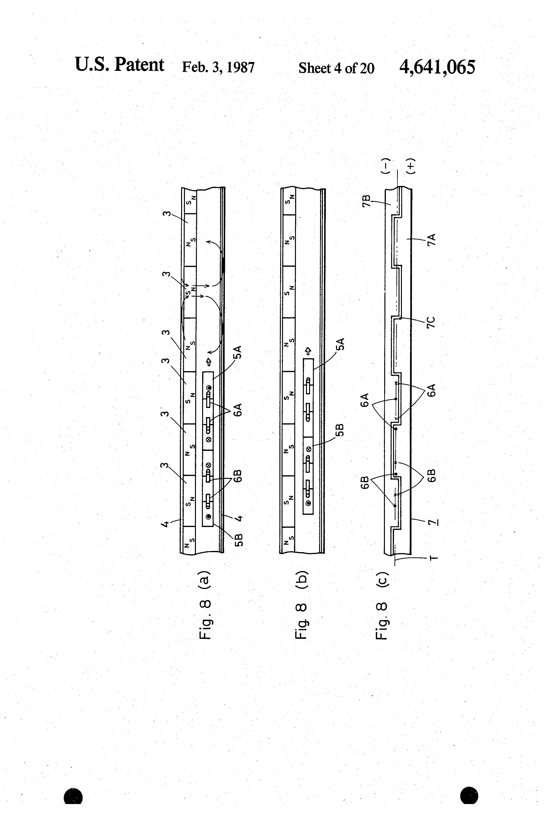 Patent us4641065 moving coil type linear motor google for Types of linear motors