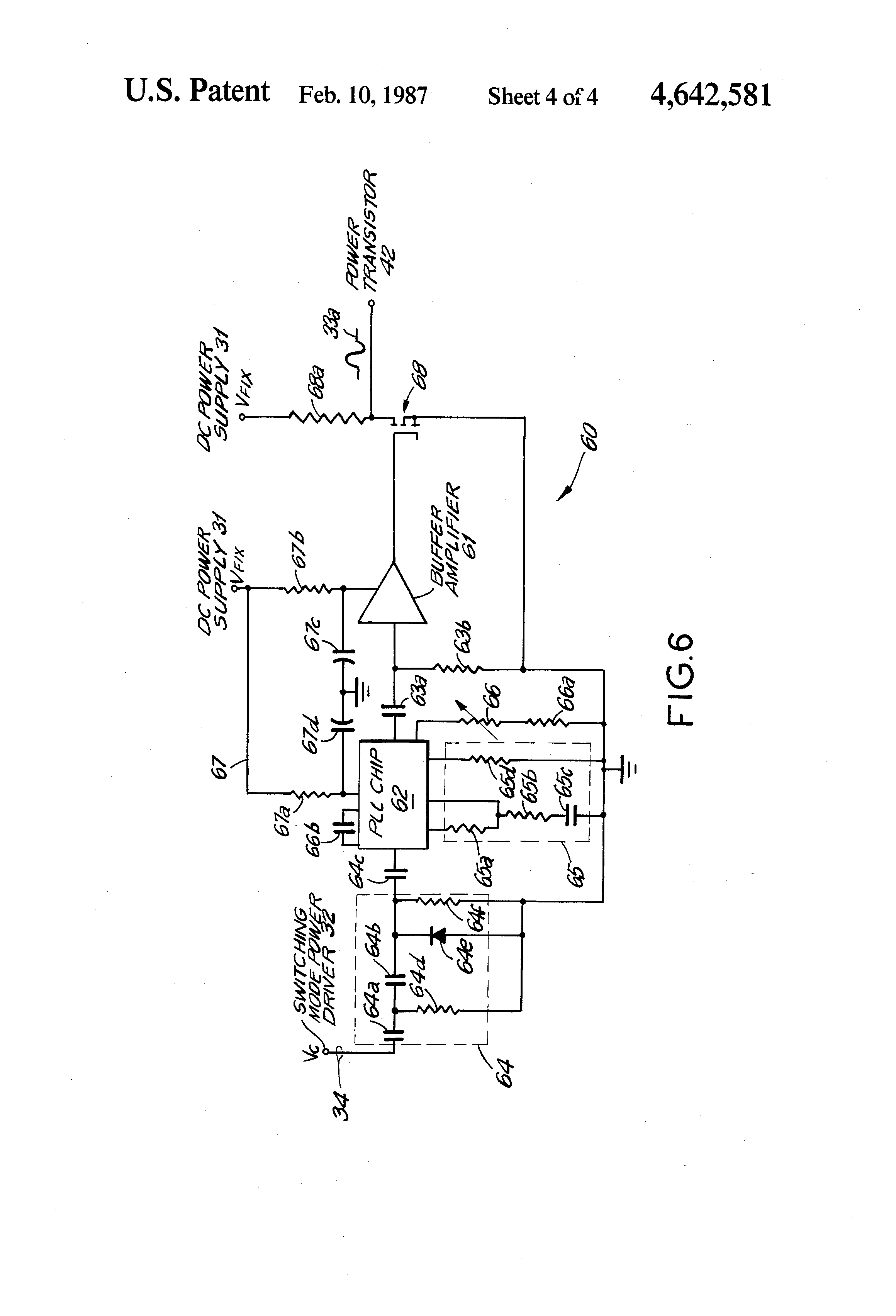 patent us4642581 - ultrasonic transducer drive circuit