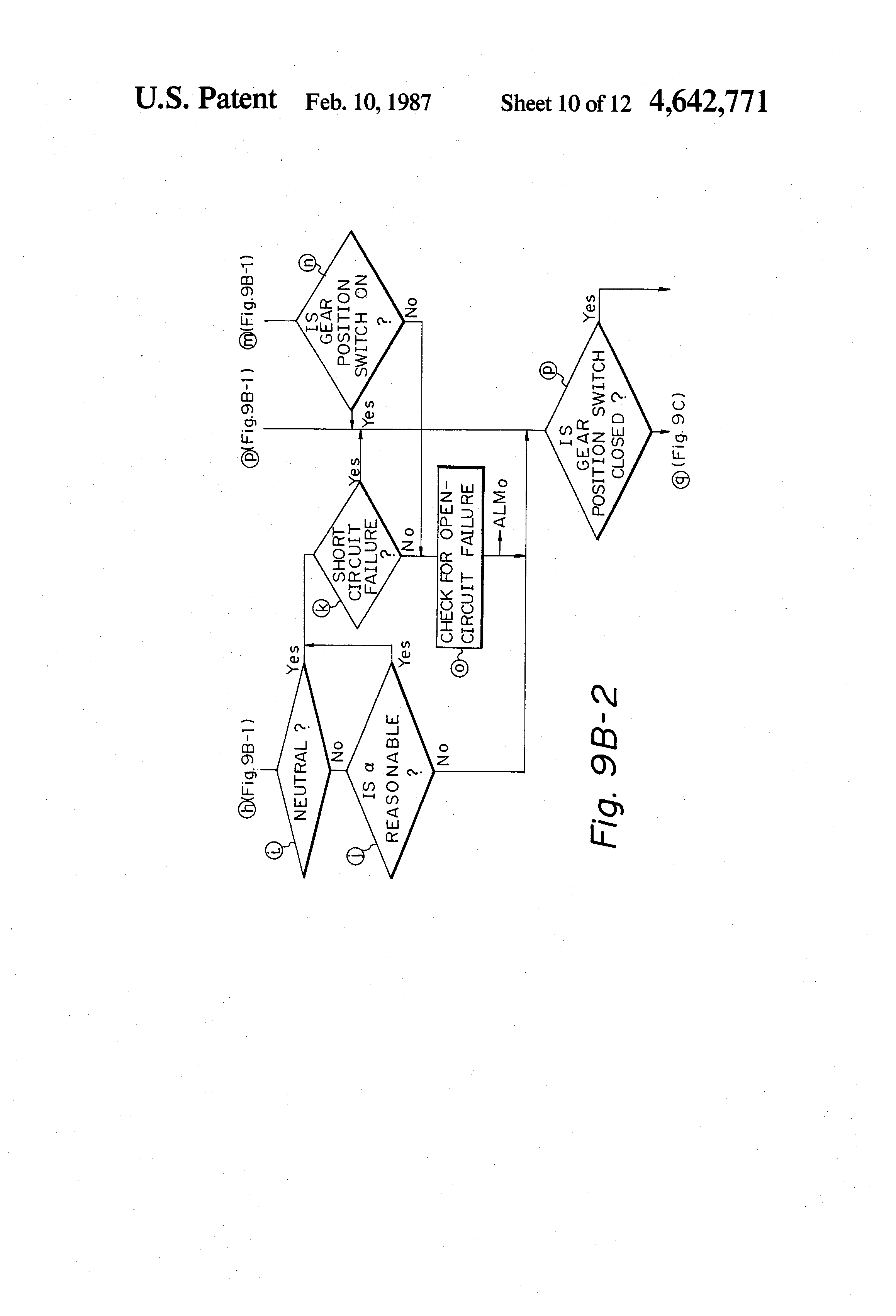Patent US4642771 - Diagnostic processing system for automatic