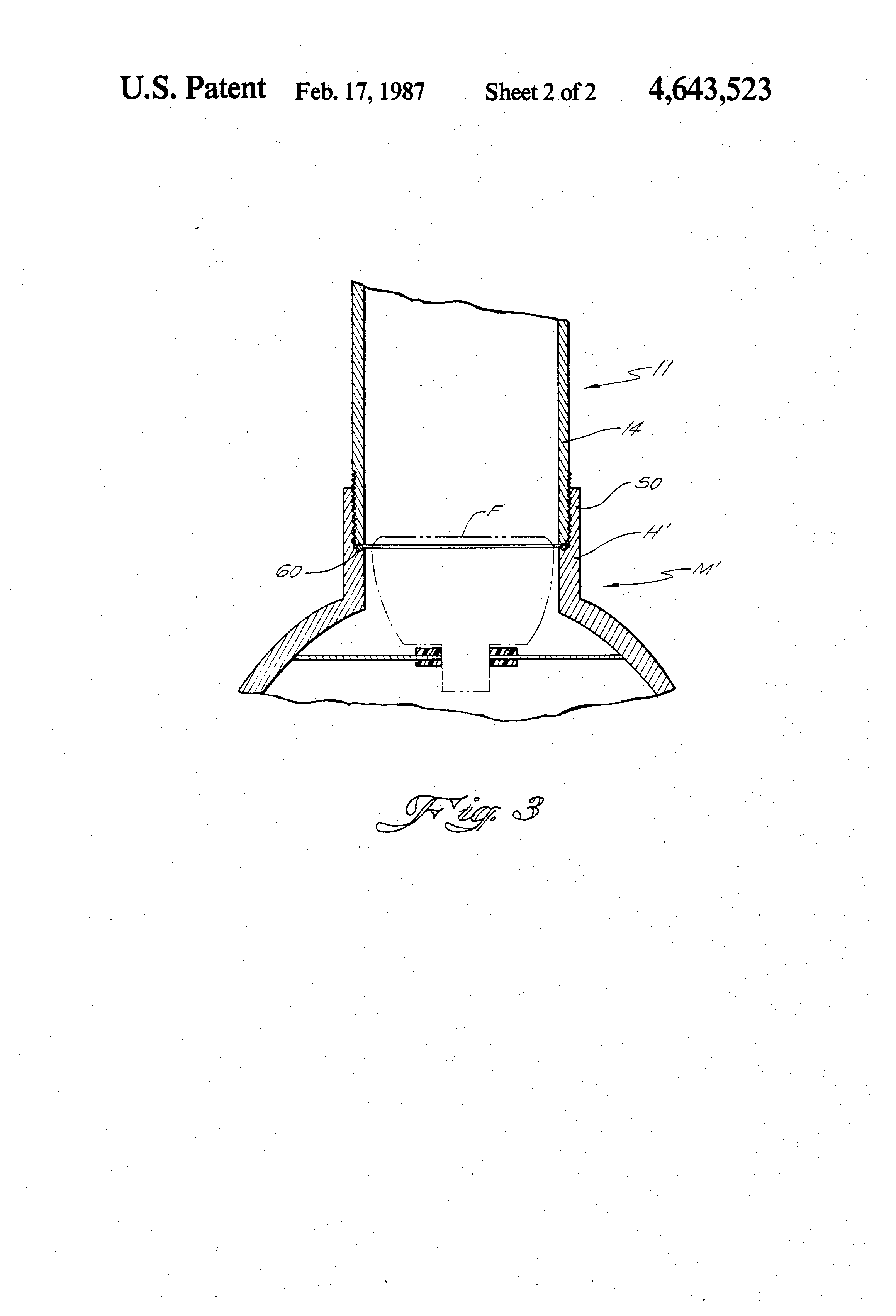 Patent Us4643523 Telescoping Water Meter Reading
