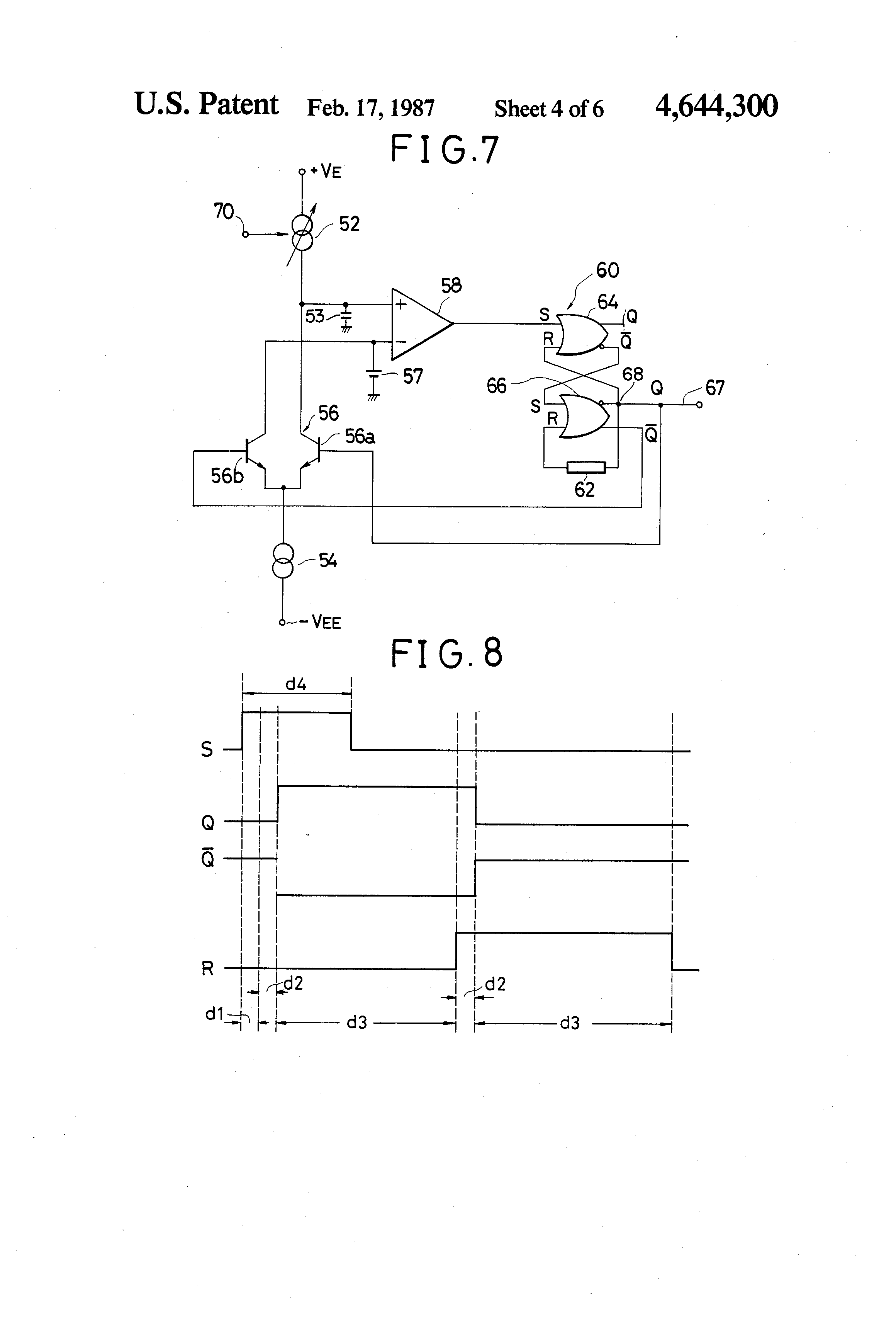 Patent Us4644300 Voltage Controlled Variable Frequency Pulse Monostable Means That Once The Circuit Is Switched On It Will Time Drawing
