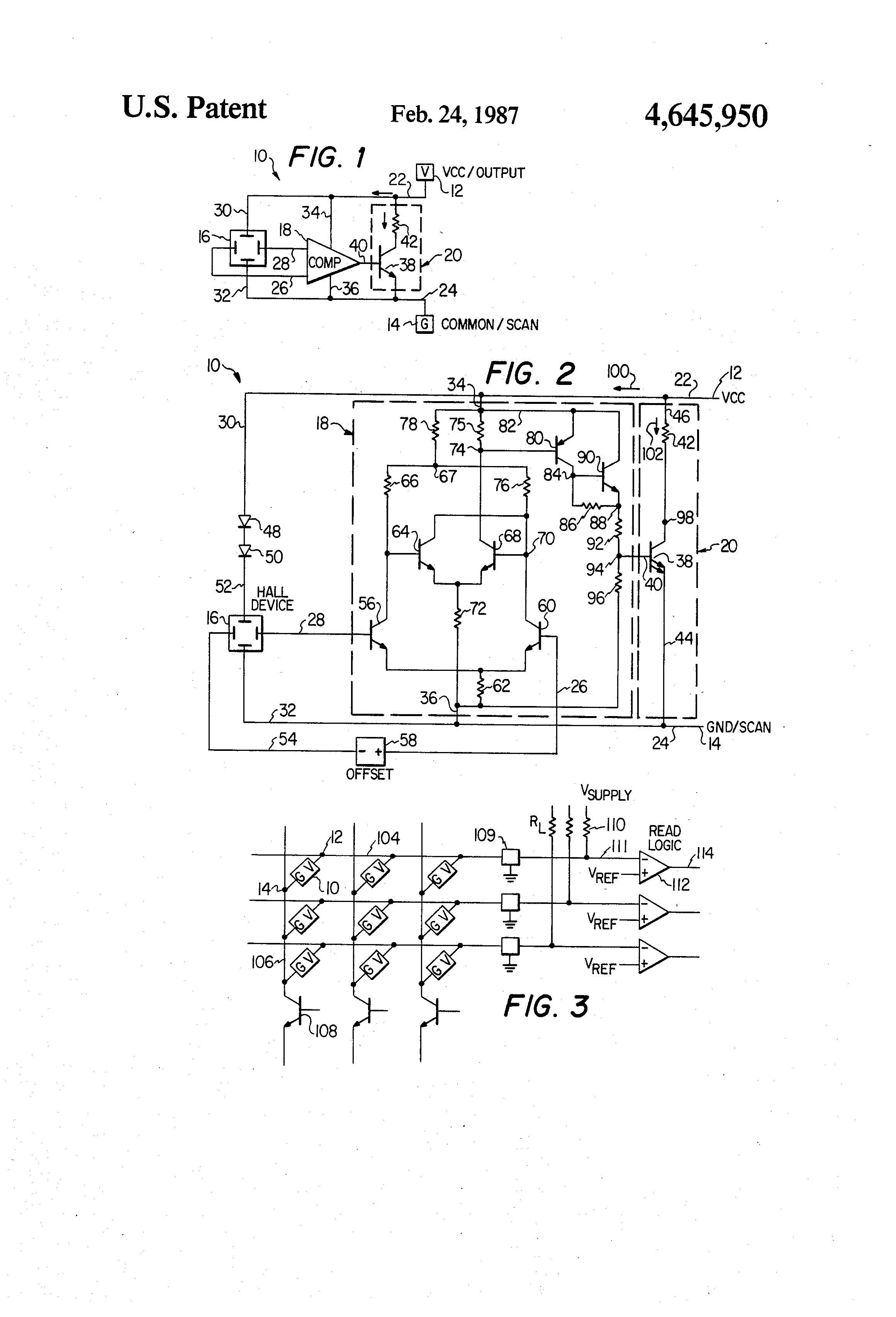 Patent Us4645950 Two Lead Hall Effect Sensor Google Patentsuche Ic Sensors Current Circuit Drawing