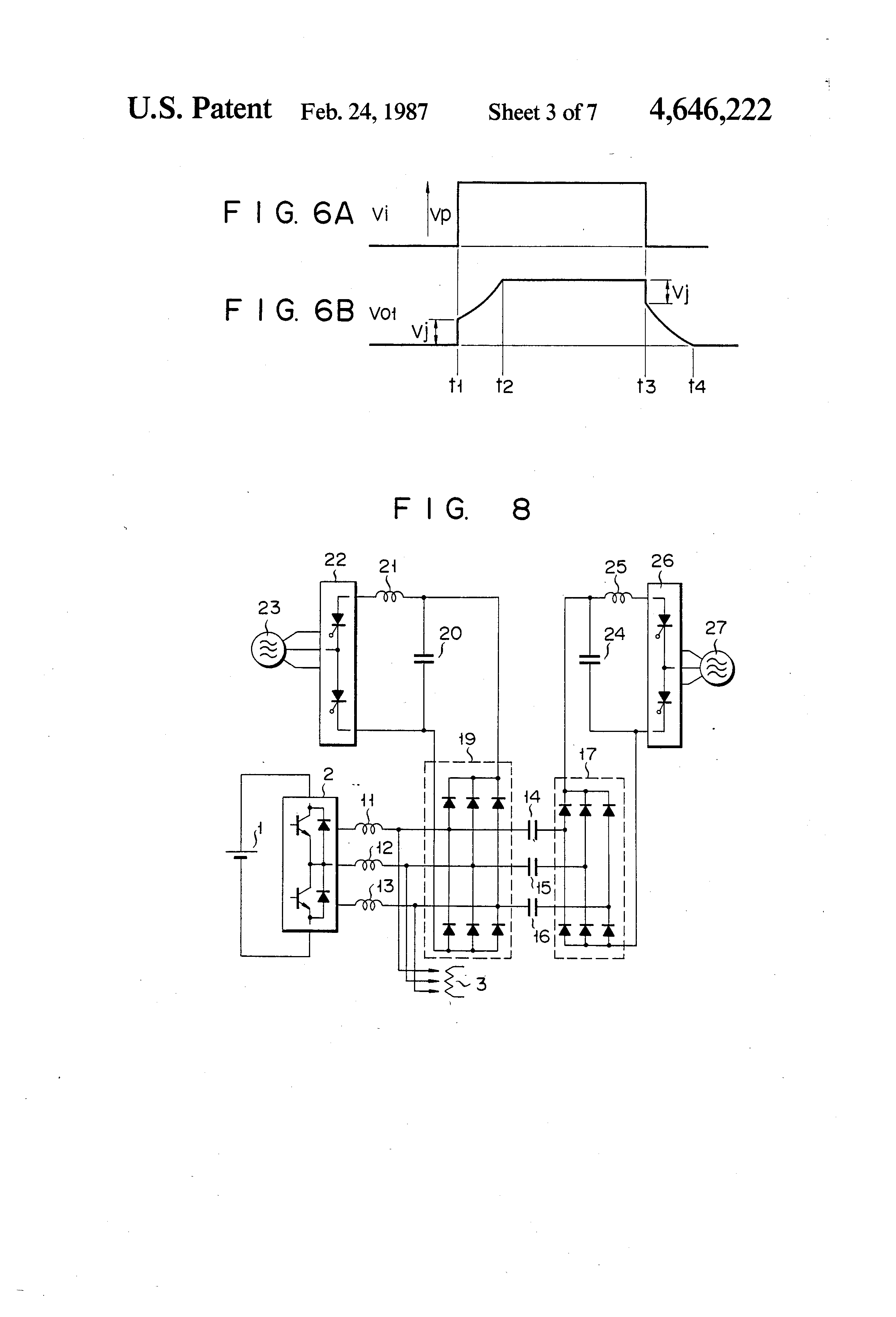 patent us4646222 - inverter provided with an overvoltage clamping circuit