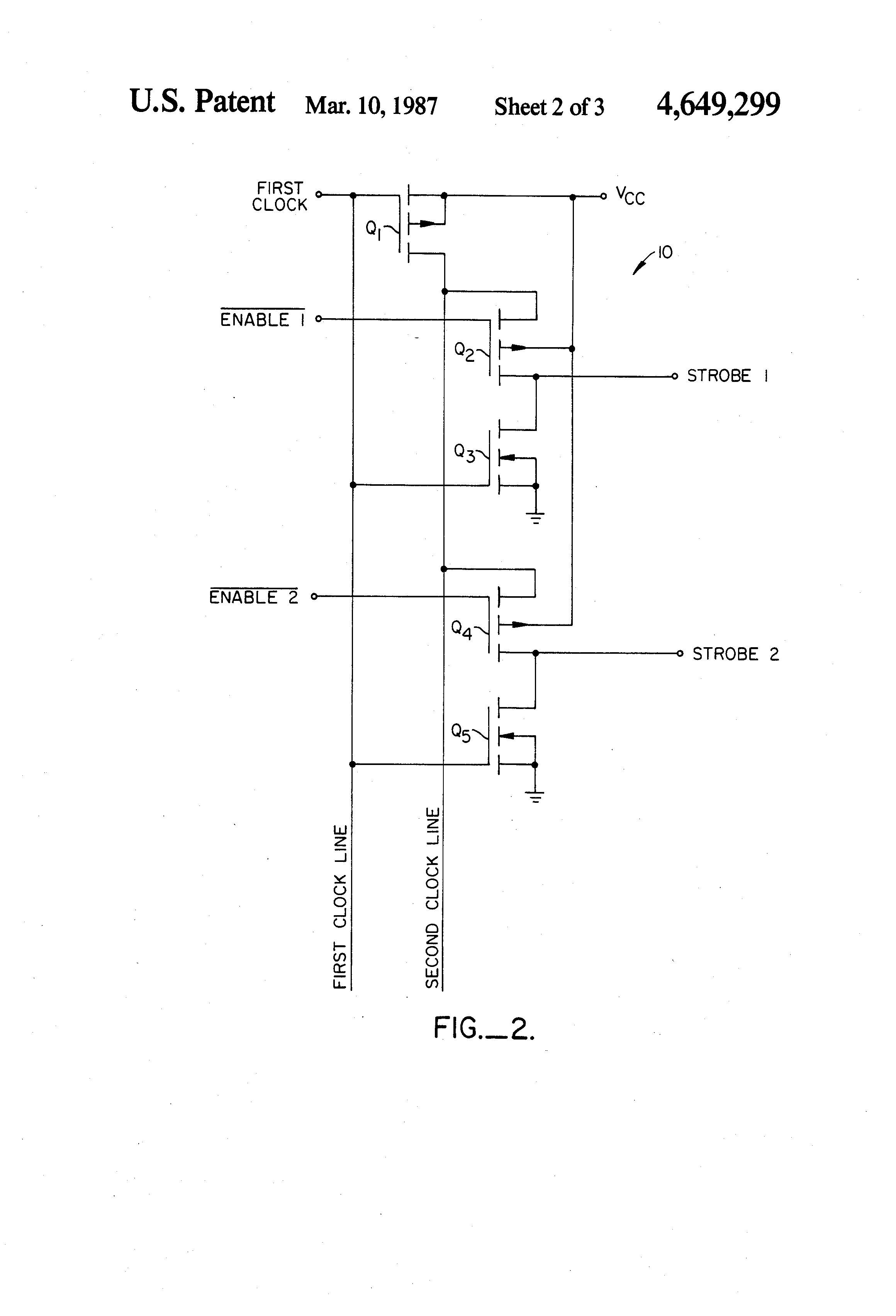 Patente Us4649299 Strobe Line Driver Circuit Google Patentes Schematic Of Basic Patent Drawing