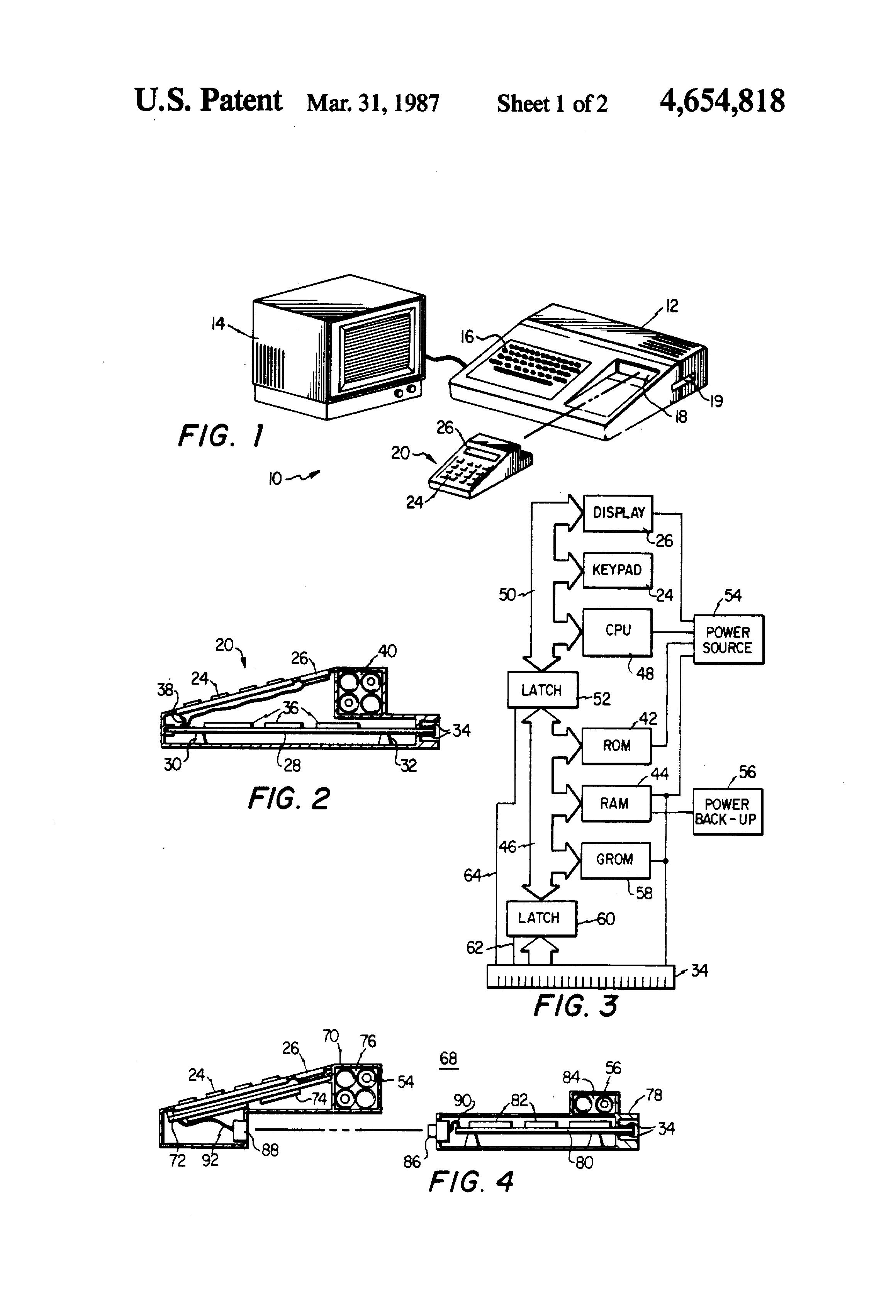 patent us4654818
