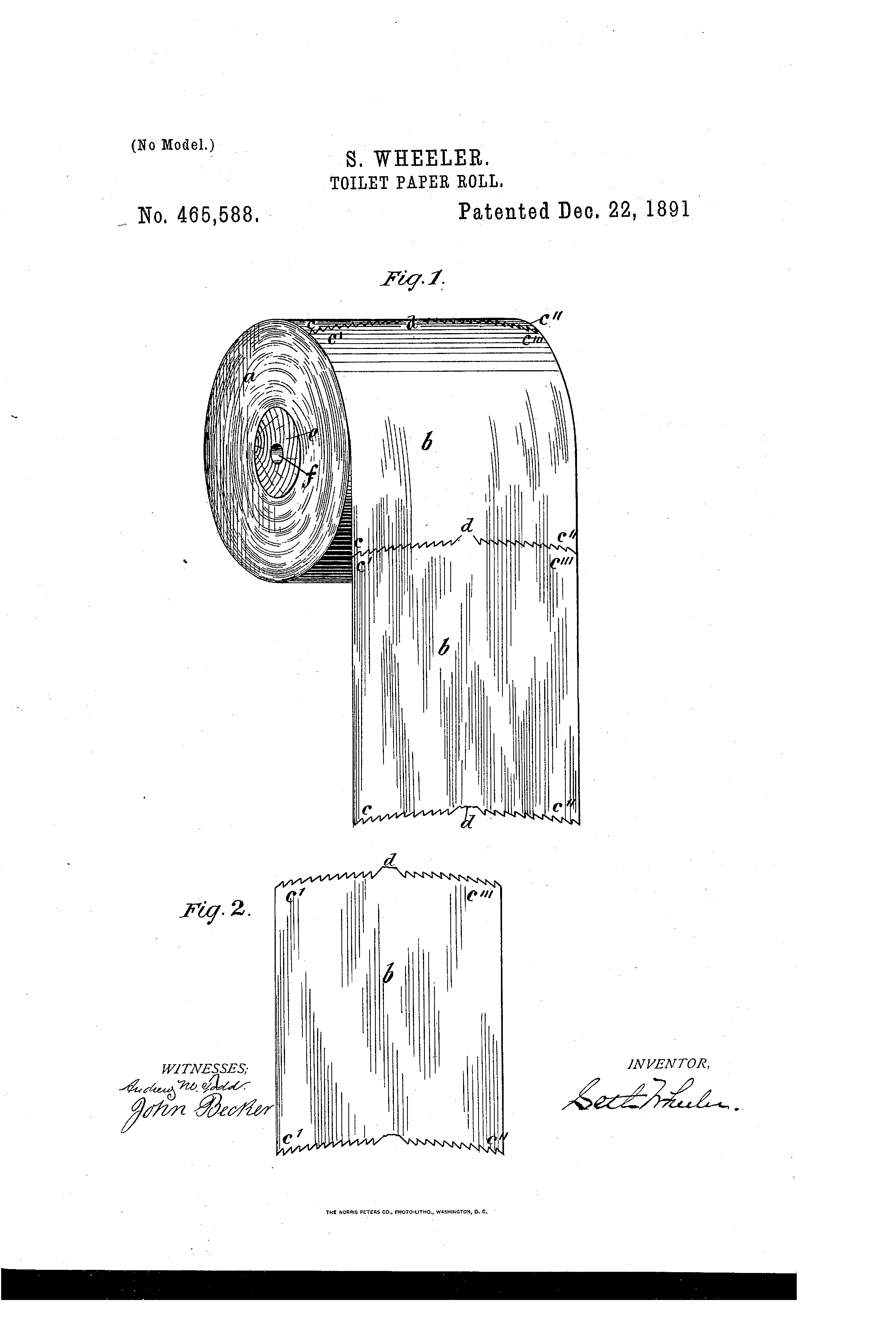 Patent US465588 Toilet paper roll Google Patents