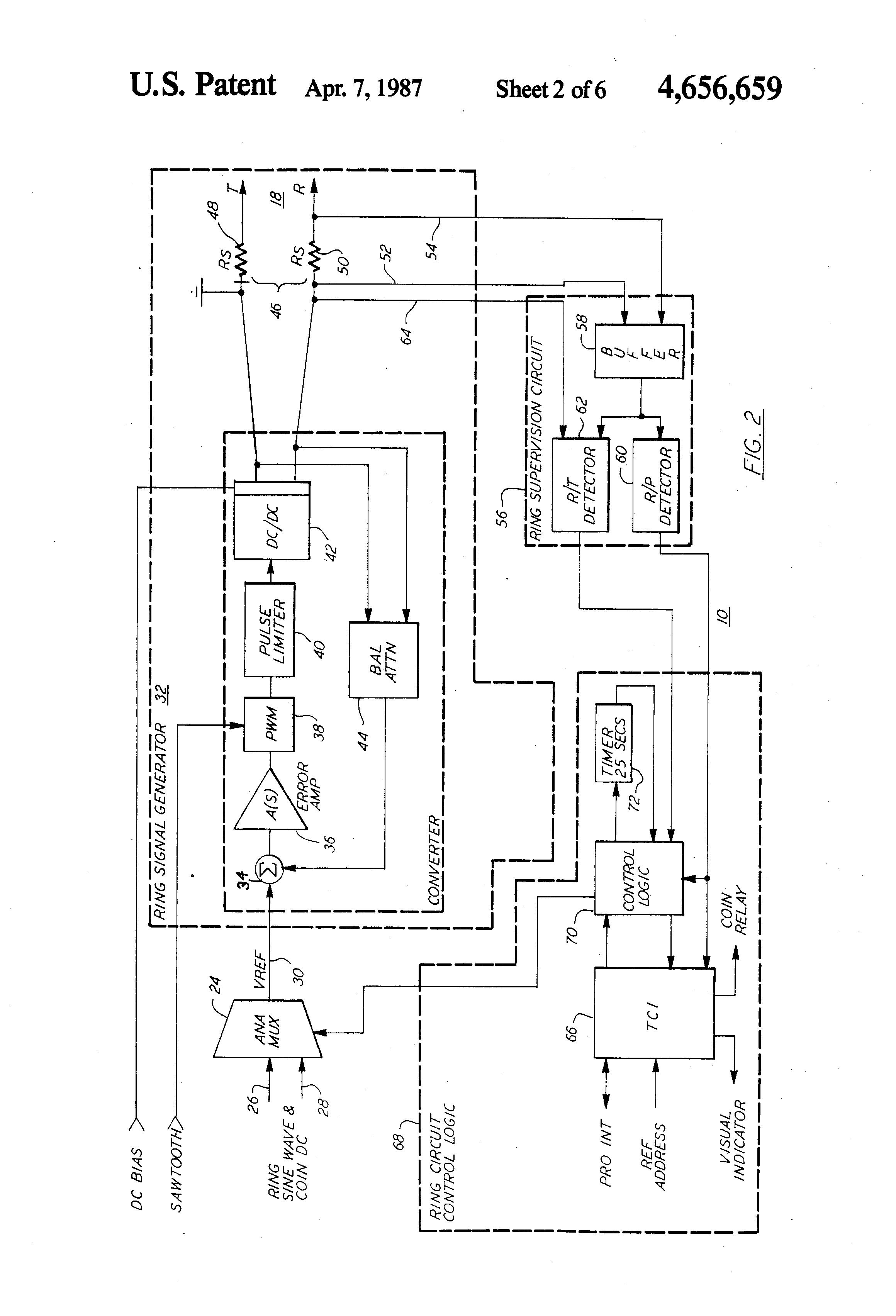 Patent Us4656659 Programmable Ring Signal Generator Google Patenti Ringcircuit Drawing