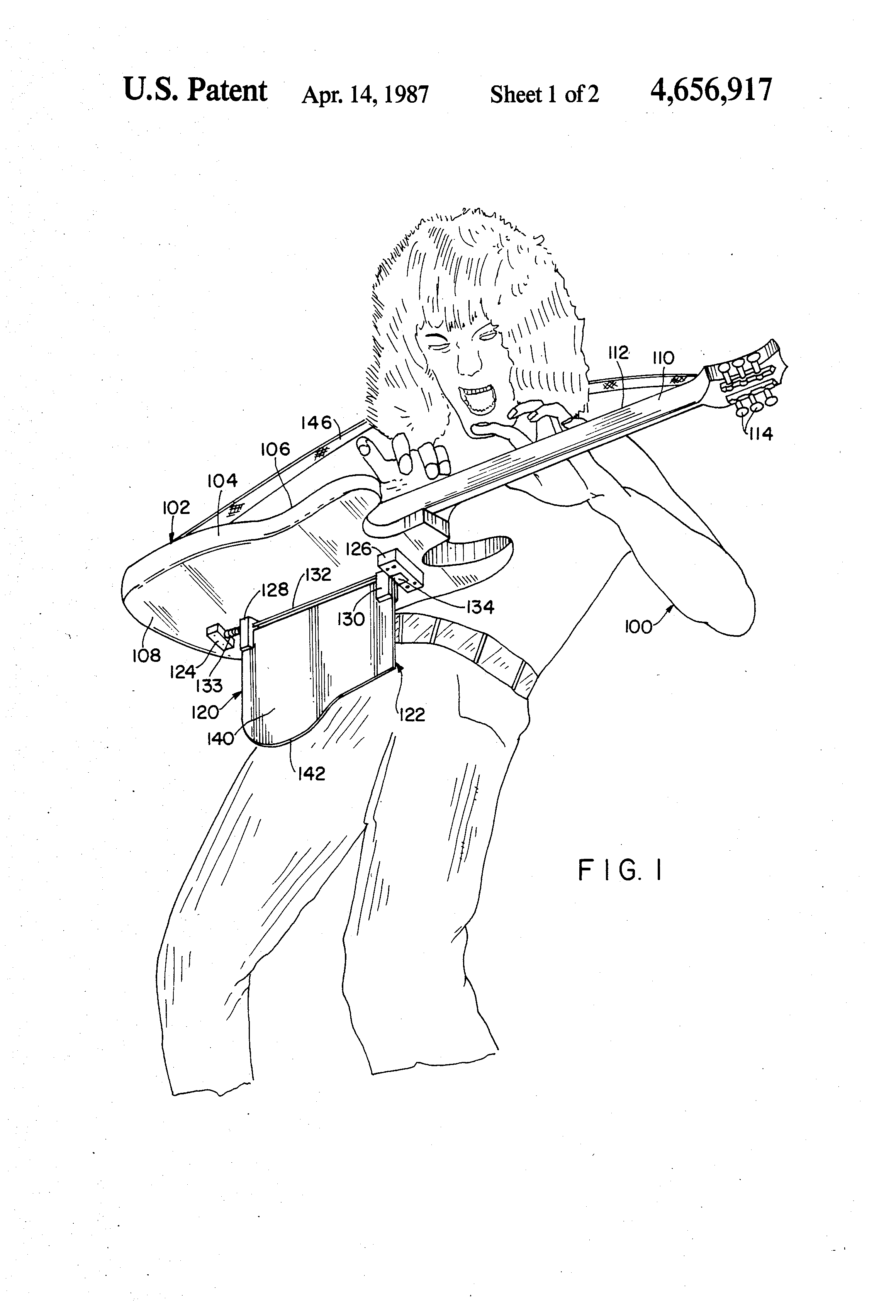 patent us4656917 - musical instrument support