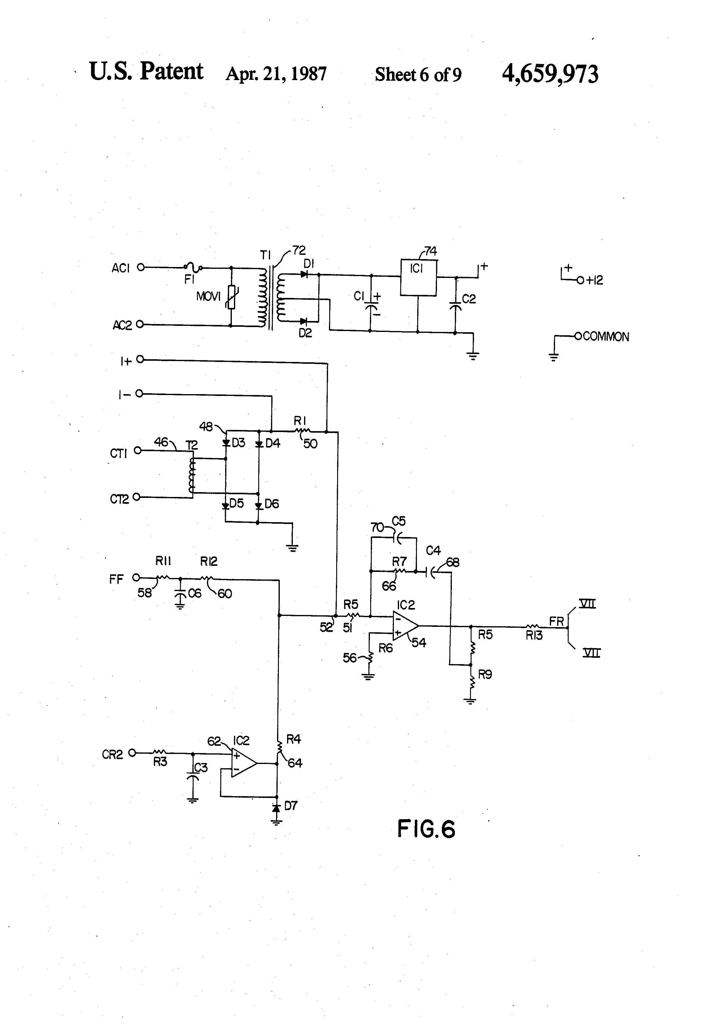 Patente Us4659973 Brushless Exciter For Controlling Excitation Of A Scr Triggering Using R Circuit Rc Patent Drawing