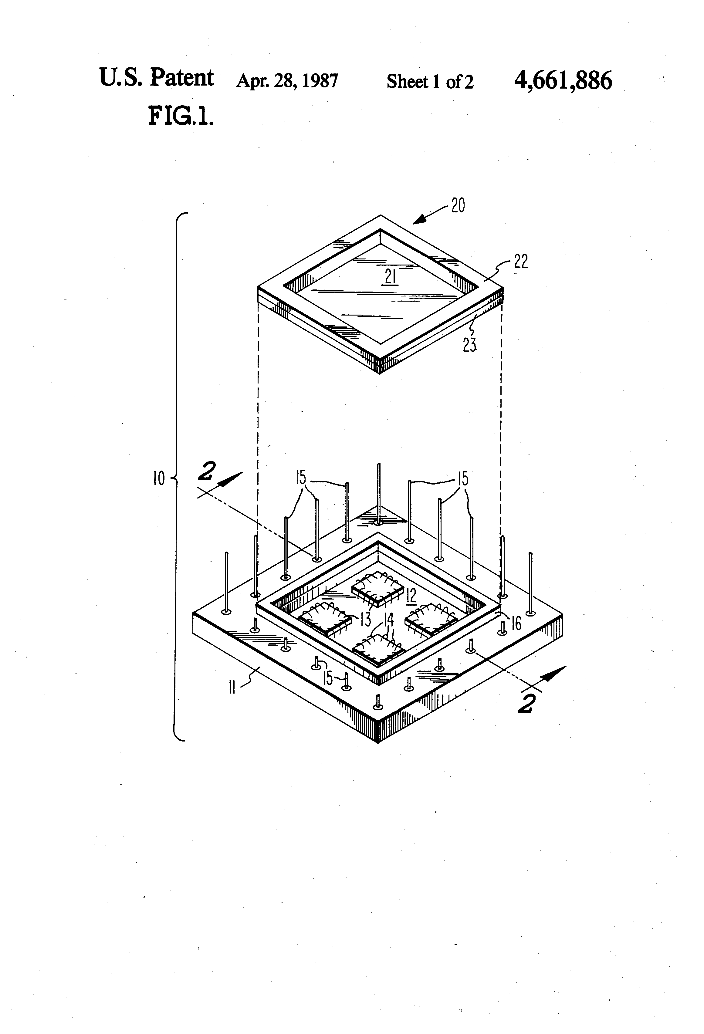Patent Us4661886 Magnetically Sealed Multichip Integrated Circuit Small Scale Ssi Circuits Drawing