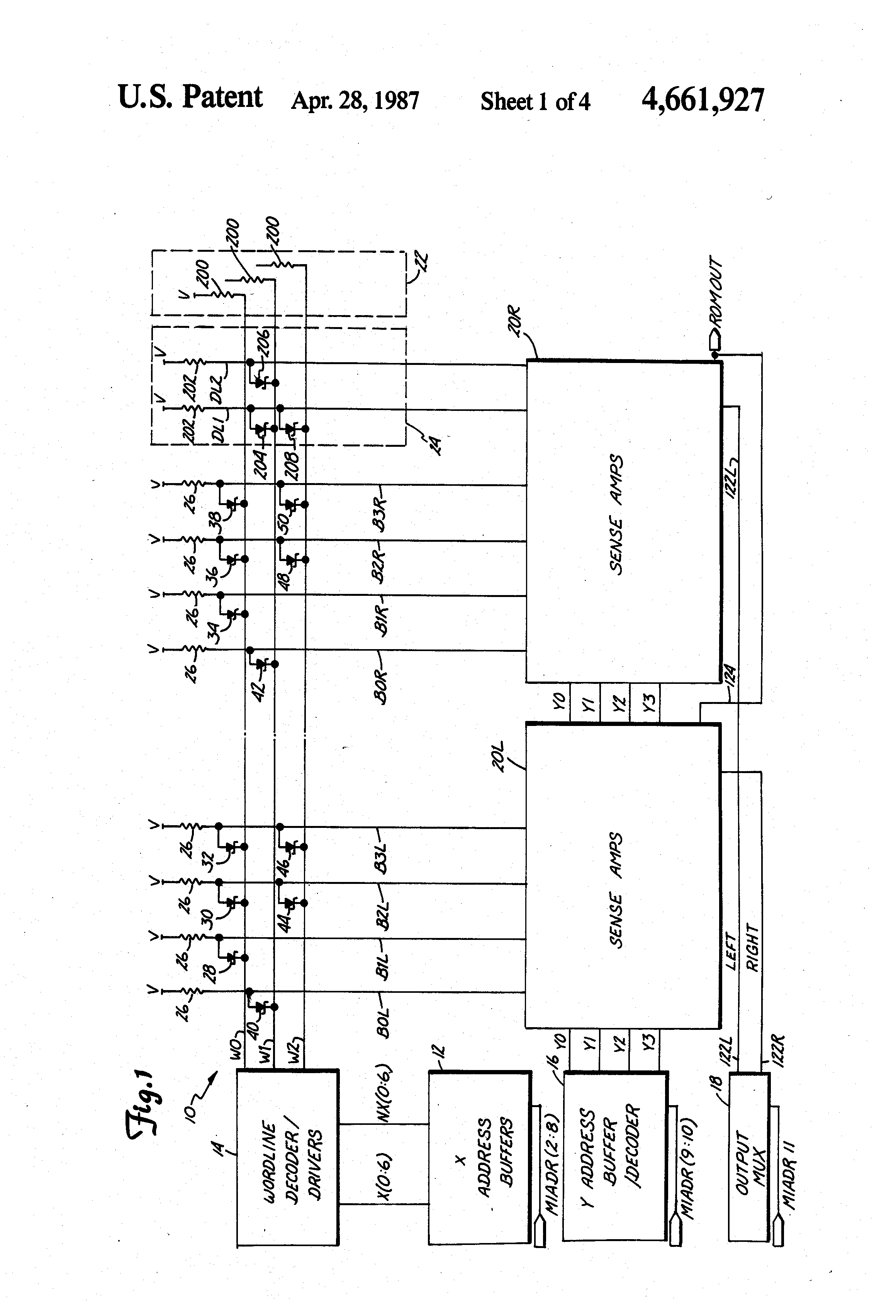 Patent Us4661927 Integrated Schottky Logic Read Only Memory How To A Diagram Drawing