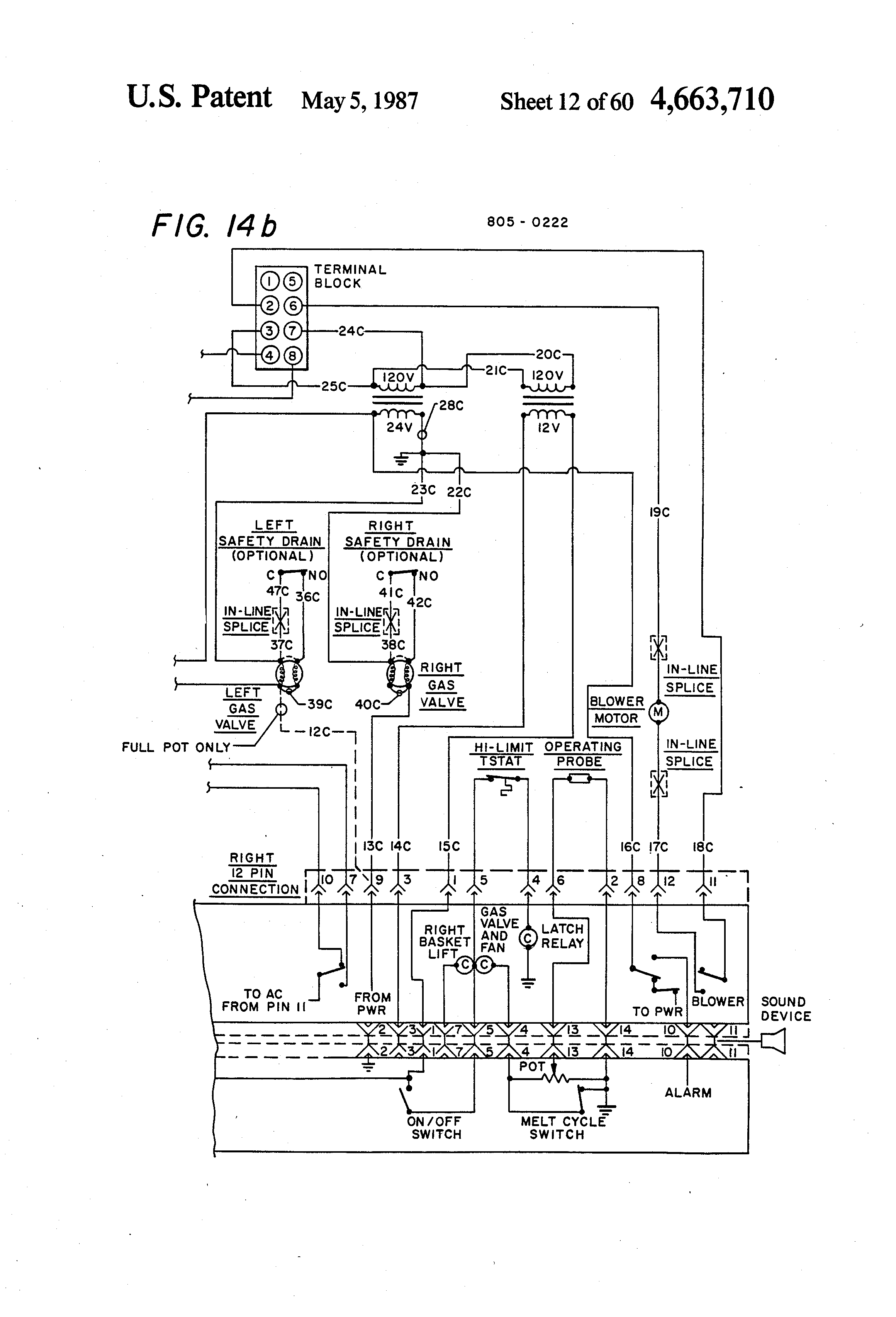 patent us4663710 - intelligent cooking appliance - google ... imperial deep fryer wiring diagram