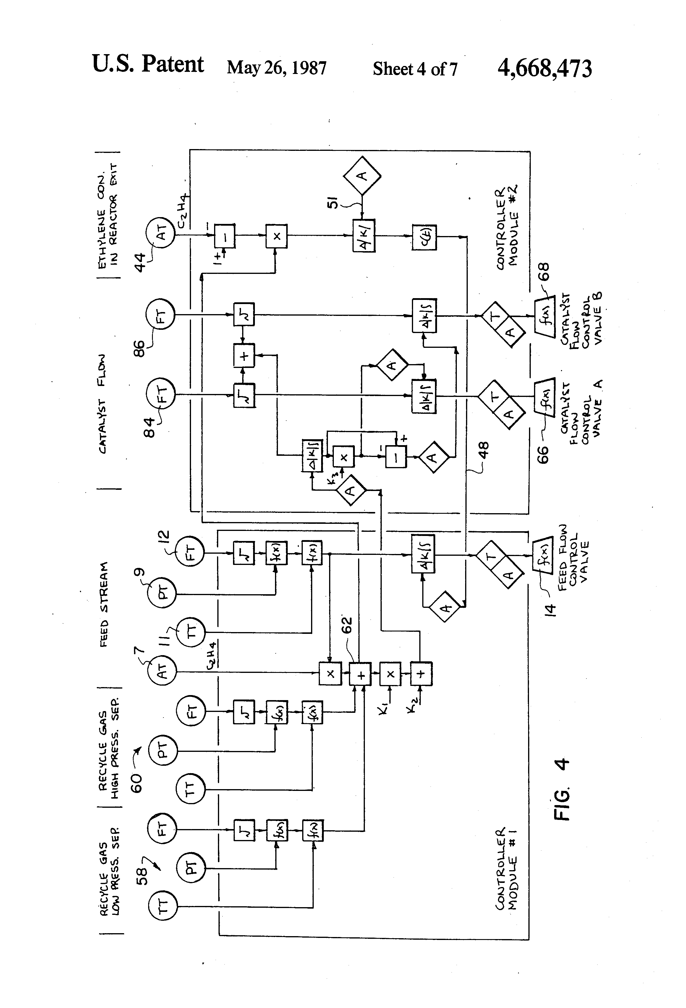 Patent Us4668473 Control System For Ethylene