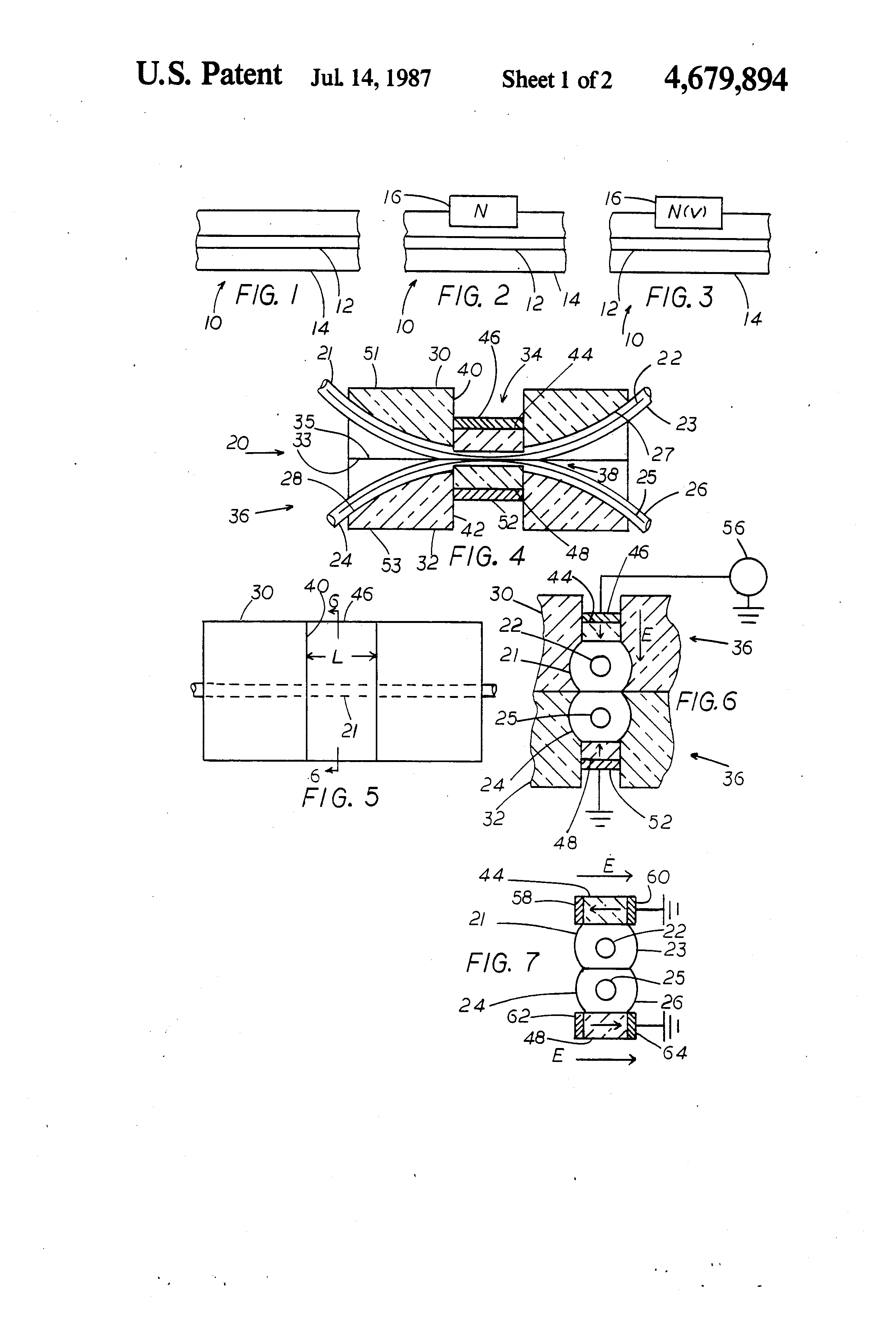 Patente US4679894 - Electrically switched fiber optic