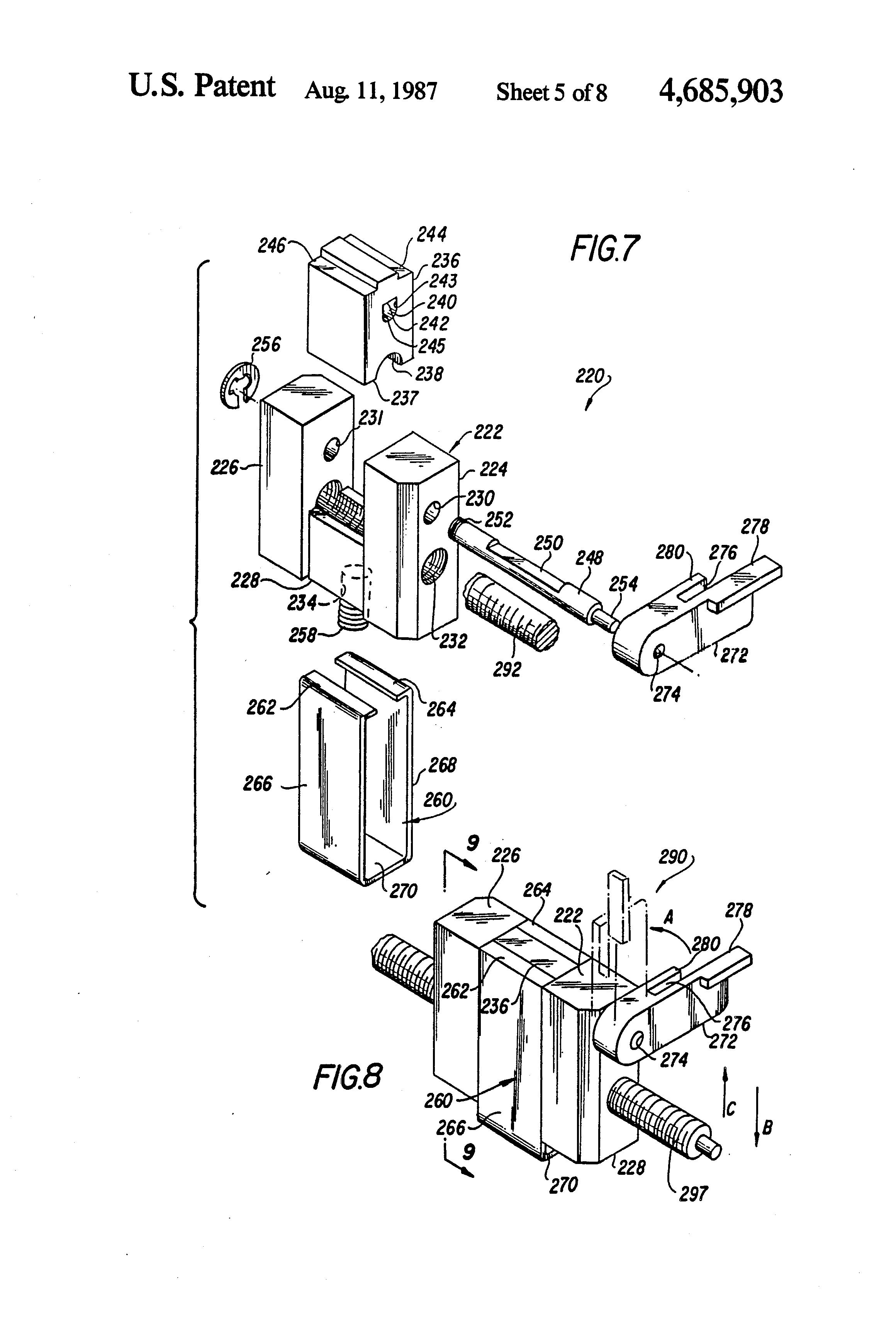 patent us4685903 - external infusion pump apparatus