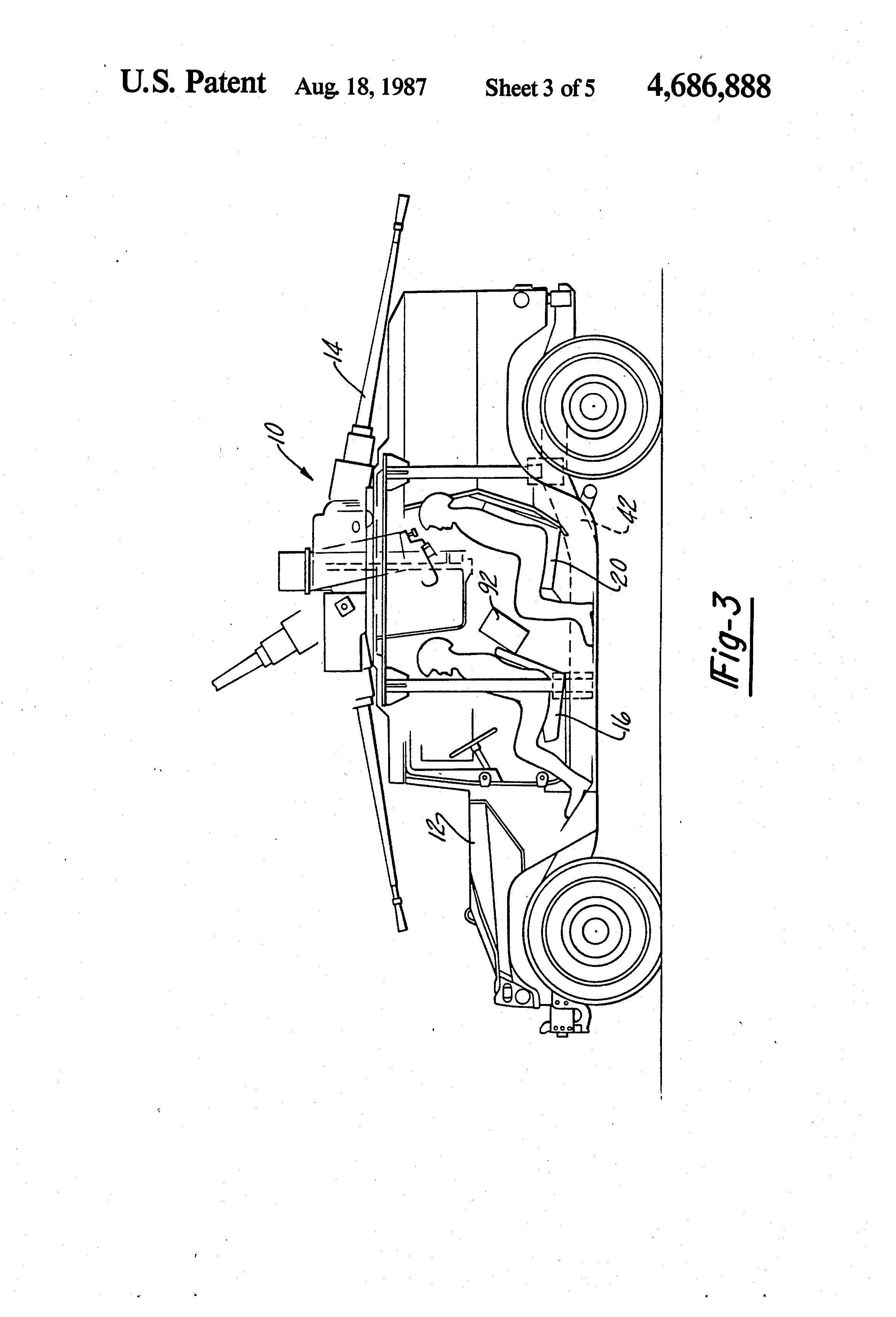 Patent Us4686888 Turret System For Lightweight Military Vehicle 2003 Audi A4 30 Quot Quatro Engine Diagram Drawing