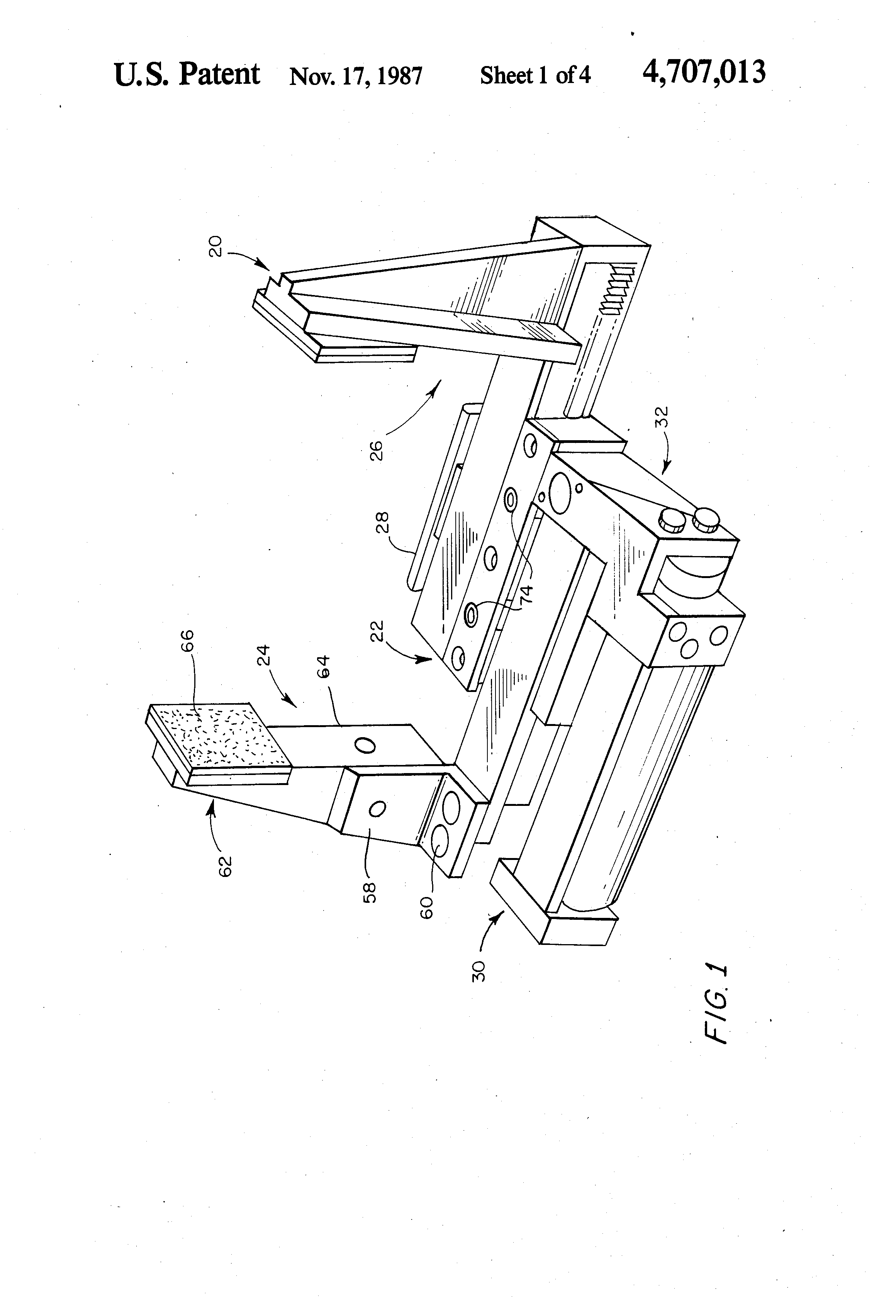 Patent Us4707013 Split Rail Parallel Gripper Google