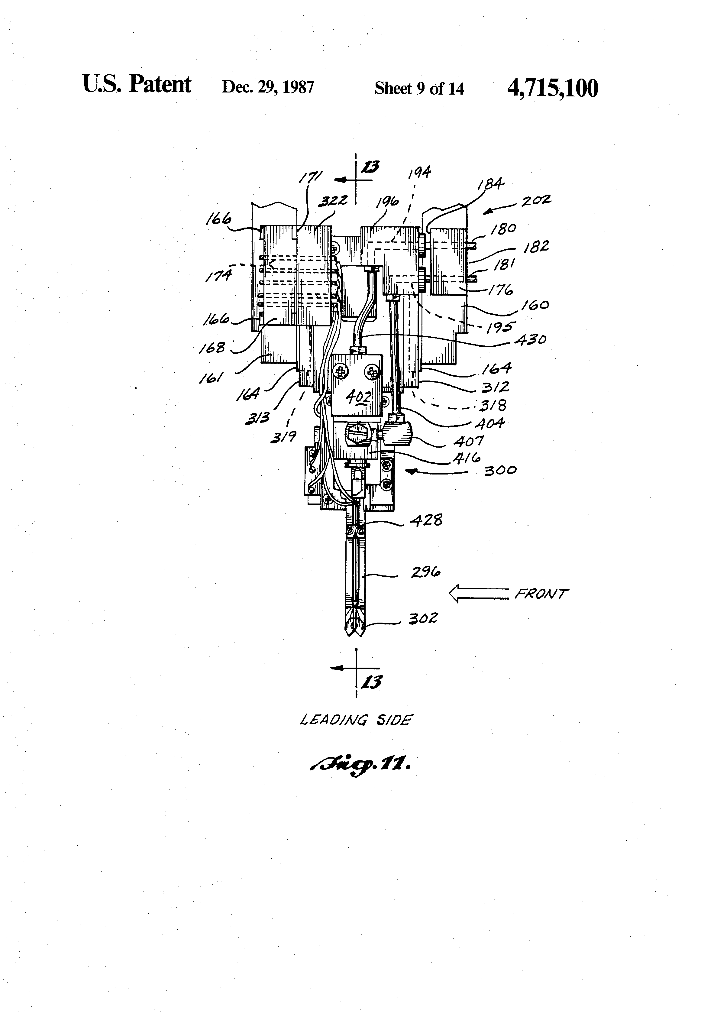 patent us4715100 - wire routing tool for robotic wire harness assembly