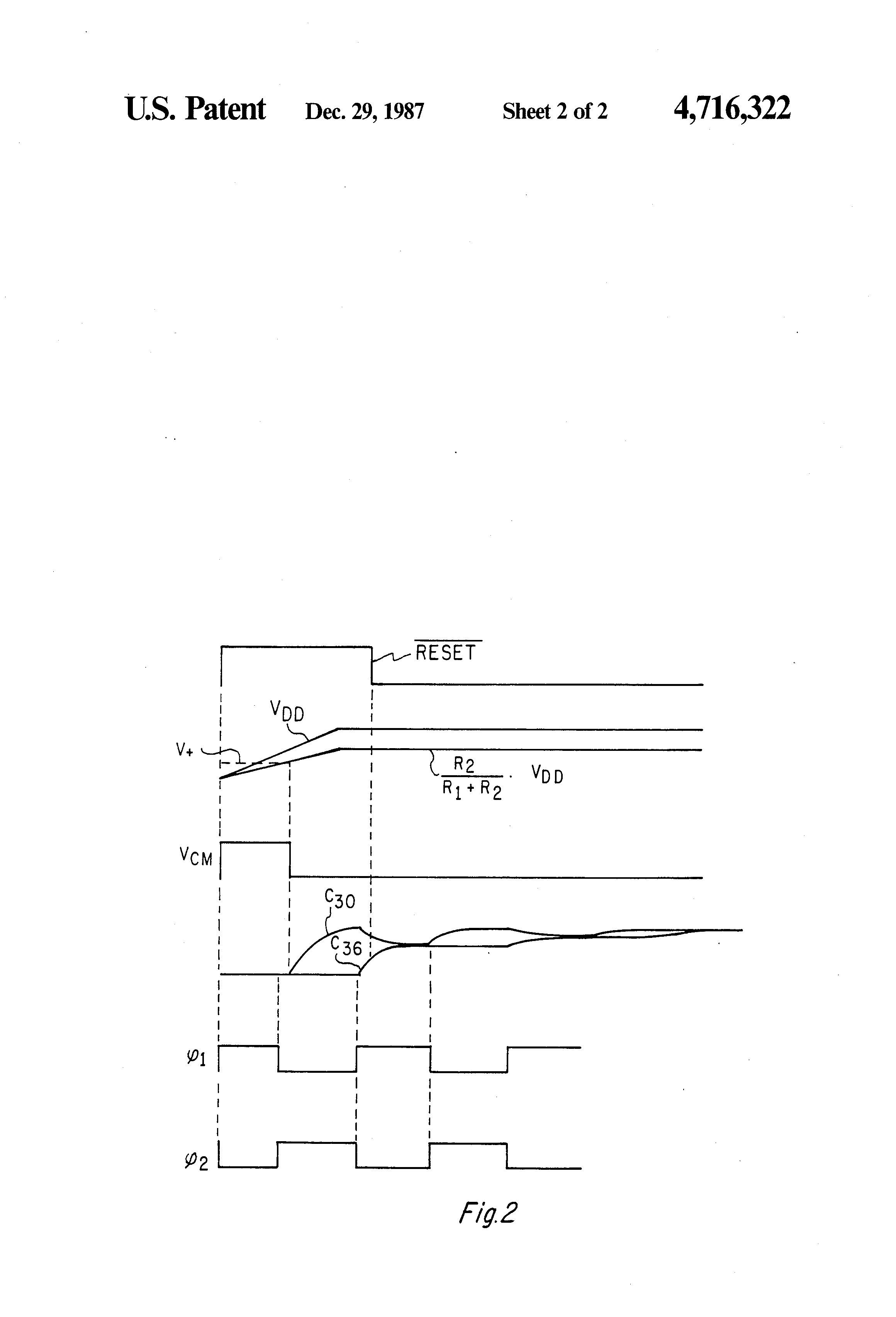 Patent Us4716322 Power Up Control Circuit Including A Comparator Schmitt Trigger Circuits Drawing