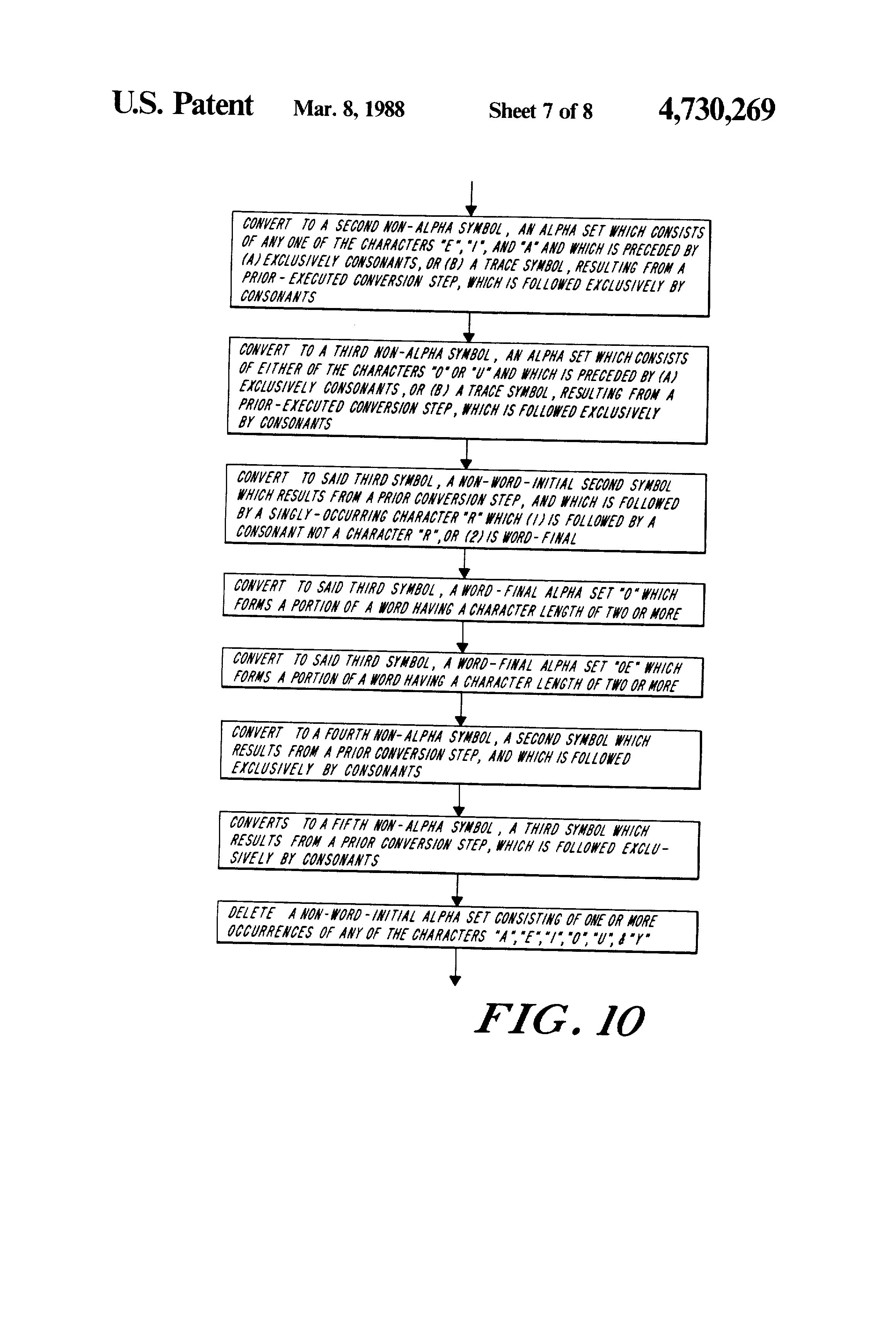 Patent Us4730269 Method And Apparatus For Generating Word