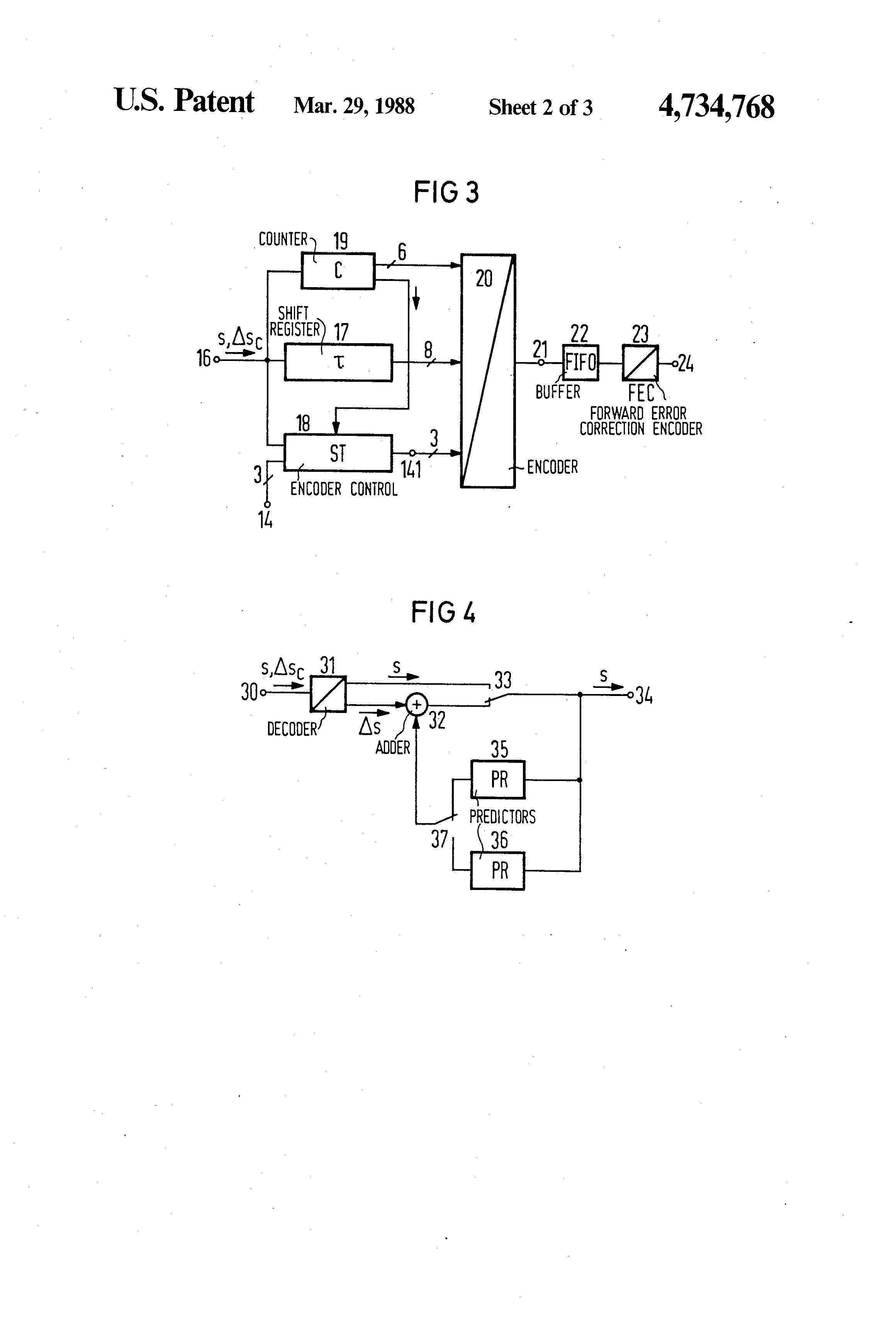 Patent US4734768 - Method for transmitting differential