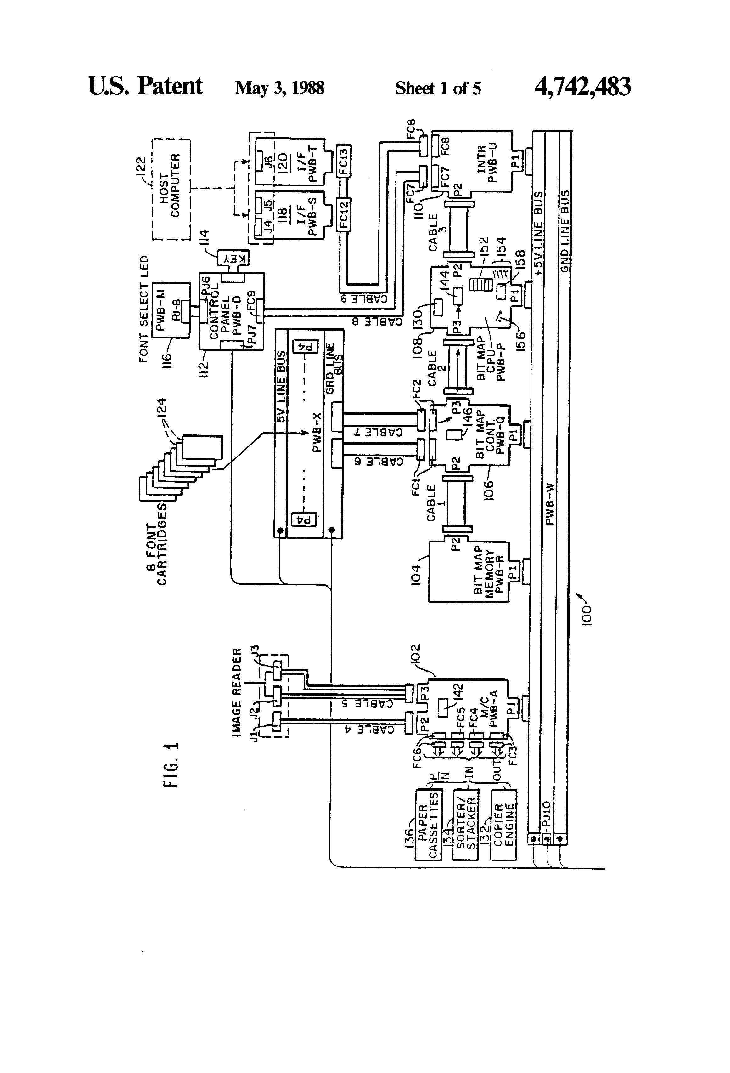 Patent Us4742483 Laser Printer Maintenance System Google Patents