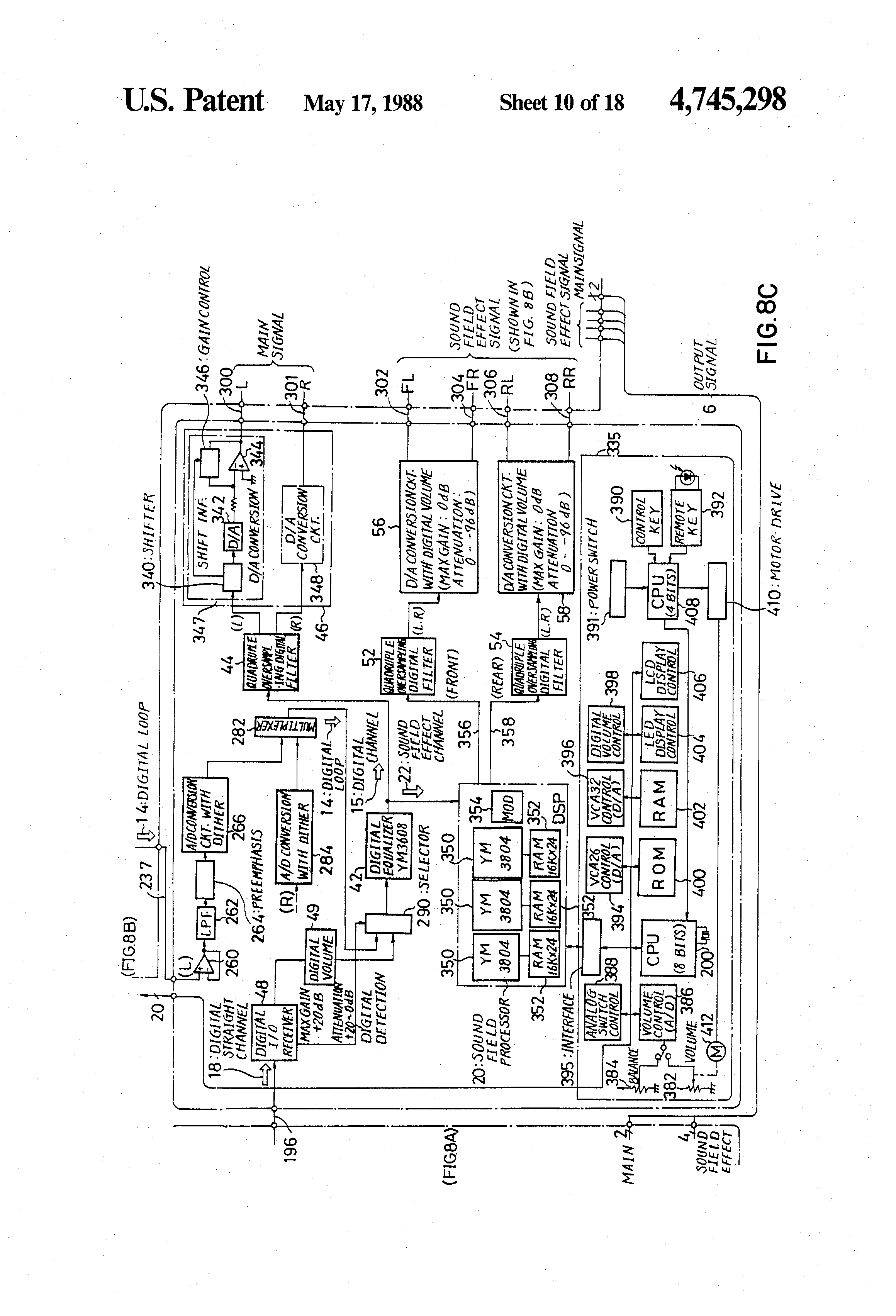Brevet Us4745298 Signal Selection Circuit Google Brevete Audio Detector Switch Controlcircuit Patent Drawing