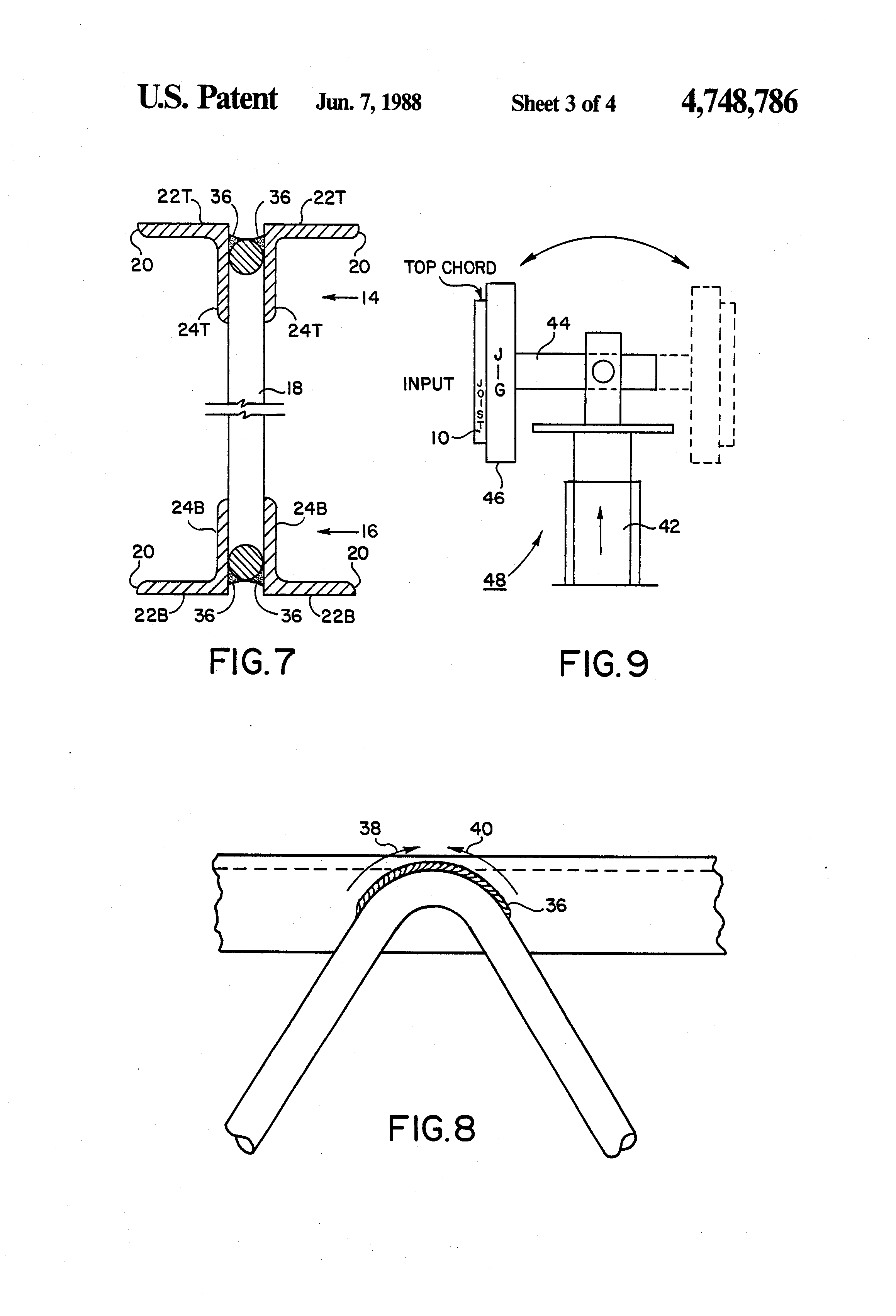 Patent US4748786 - Fabricated open web steel joist, and ...