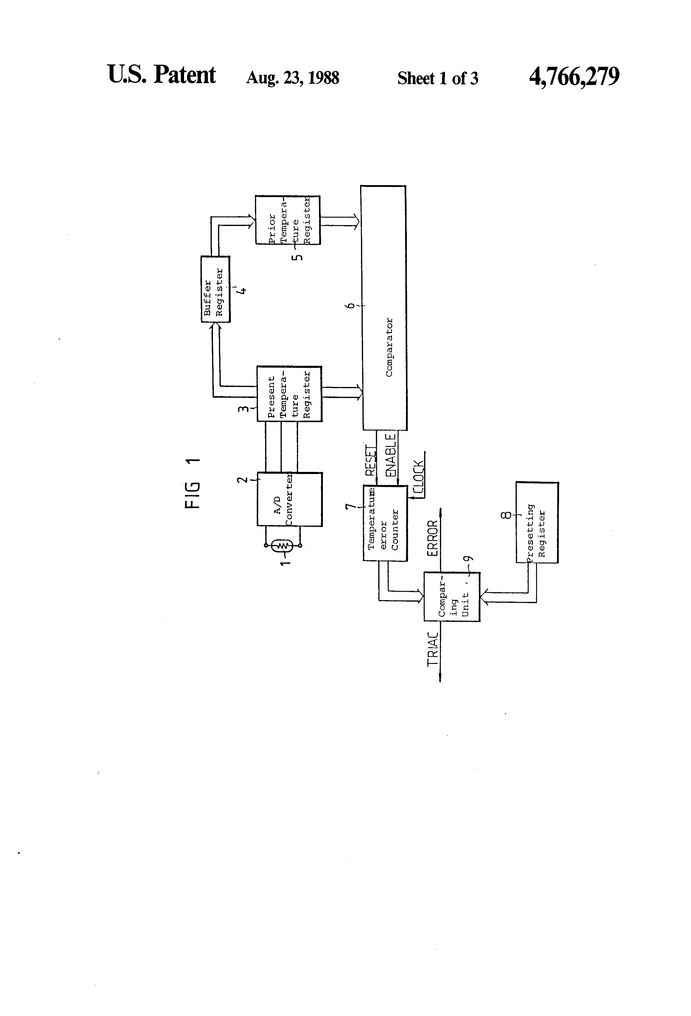 Brevet Us4766279 Heat Variation Detecting Circuit For The Microwave Oven Patent Drawing