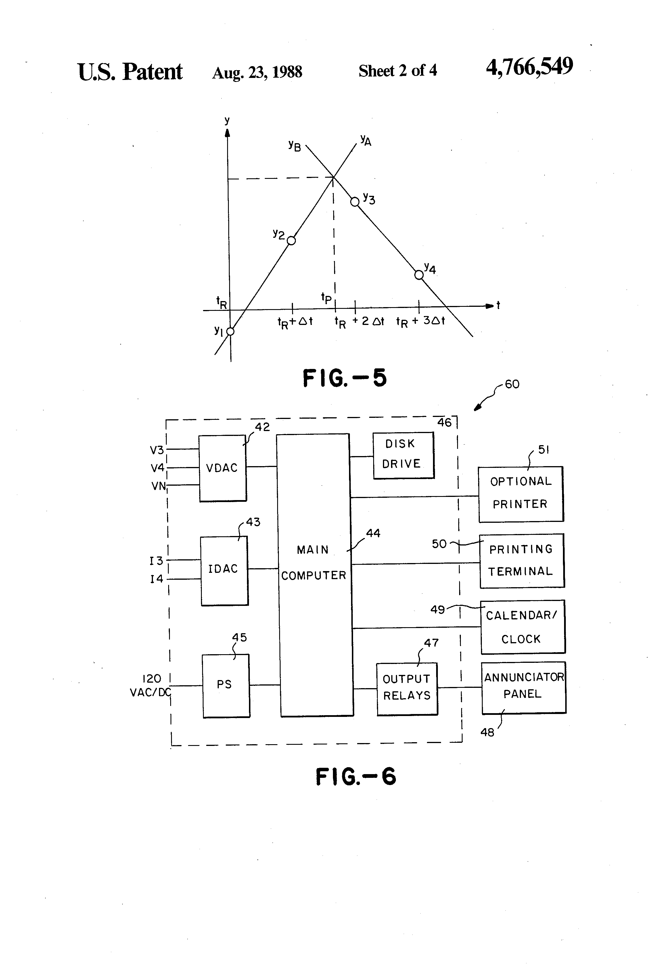 Patent Us4766549 Single Ended Transmission Line Fault Locator Simple Phase Failure Relay Diagram Drawing