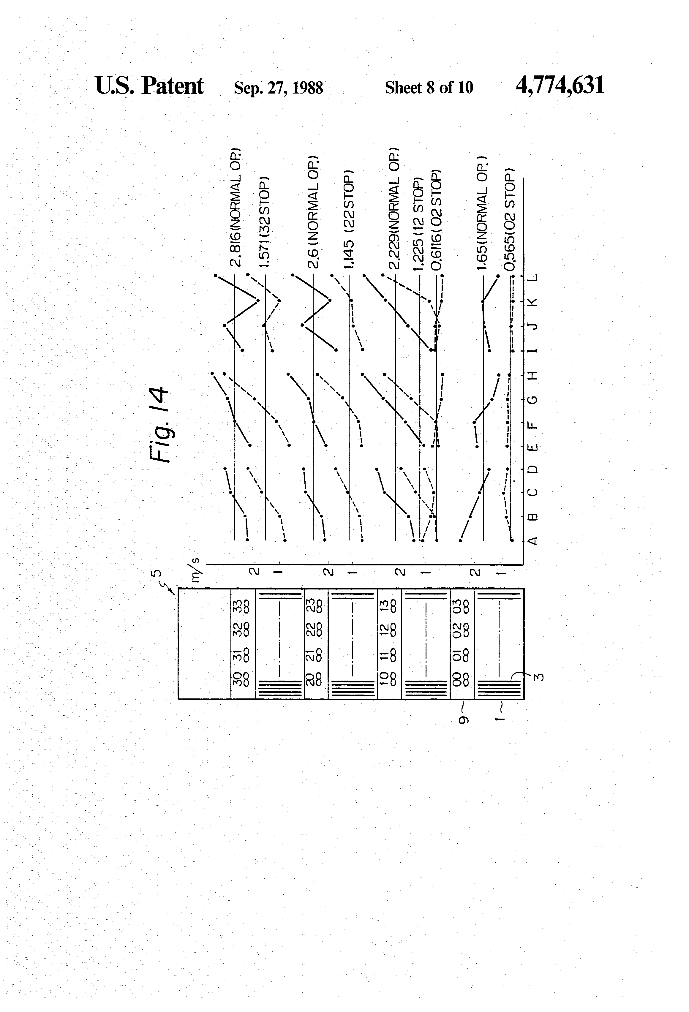 patent us4774631 - cooling structure of electronic equipment rack