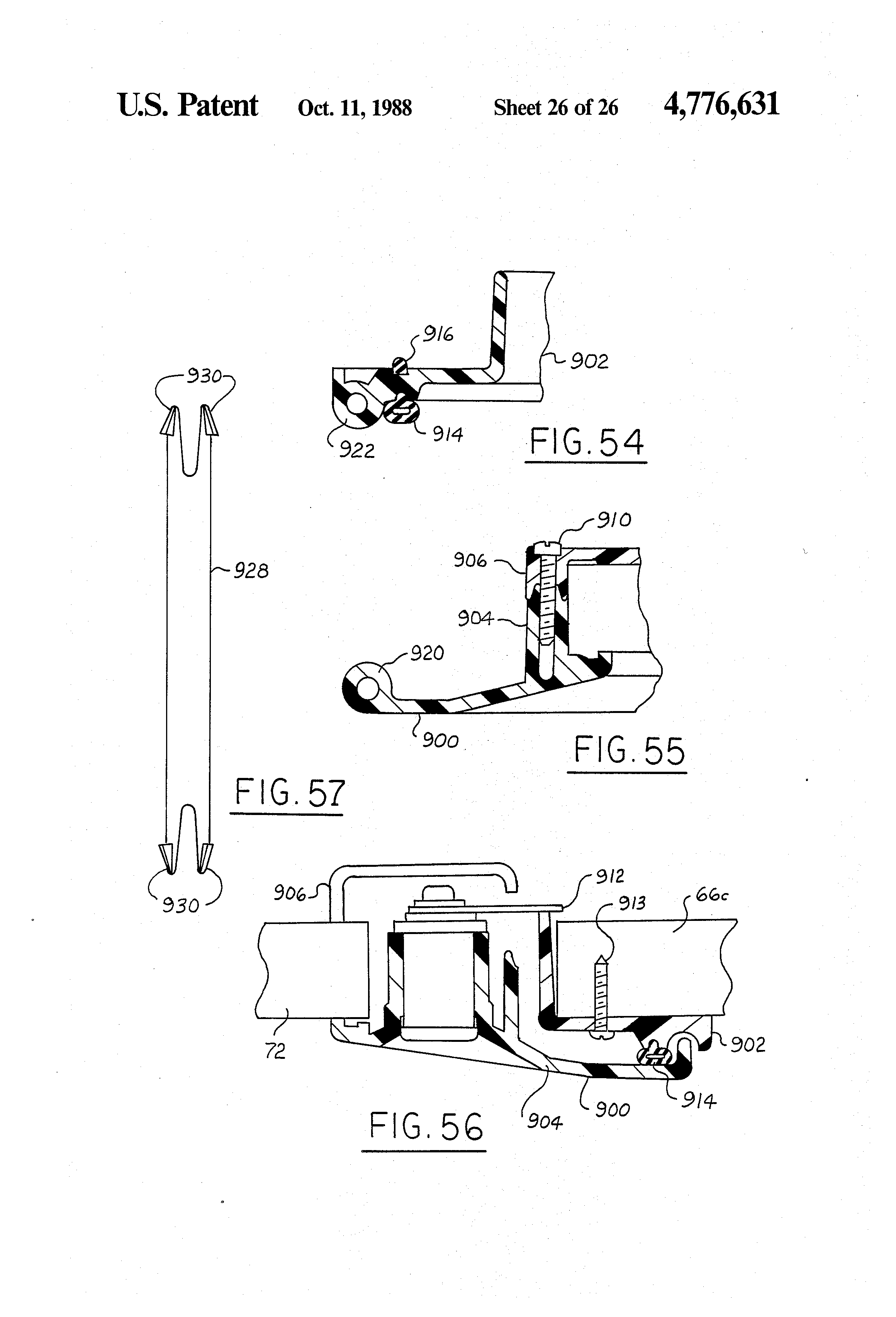 Patent Us4776631 Self Contained Rv Sanitary Systems Google Patents Blackwater Diagrams Moreover Thetford Toilet Parts Diagram Drawing